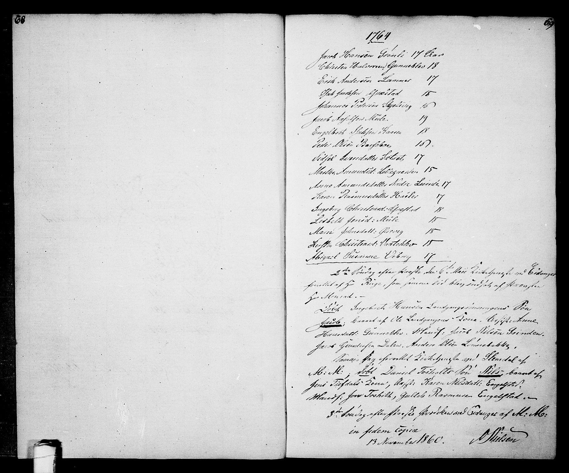 SAKO, Eidanger kirkebøker, F/Fa/L0005: Ministerialbok nr. 5, 1760-1764, s. 68-69