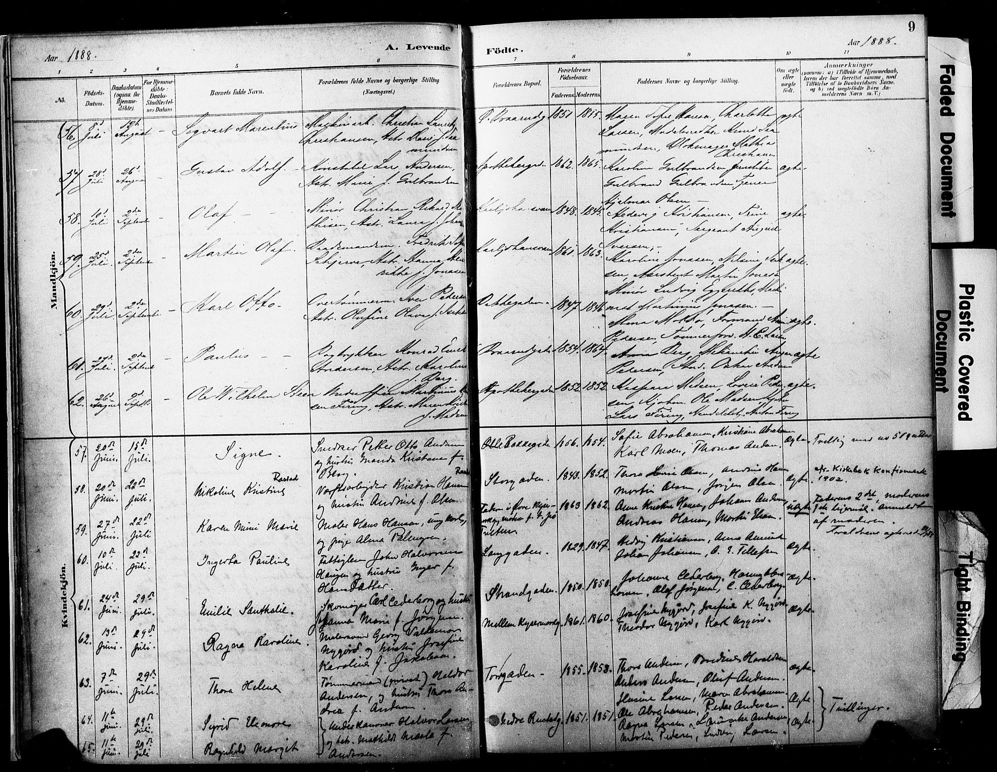 SAKO, Horten kirkebøker, F/Fa/L0004: Ministerialbok nr. 4, 1888-1895, s. 9