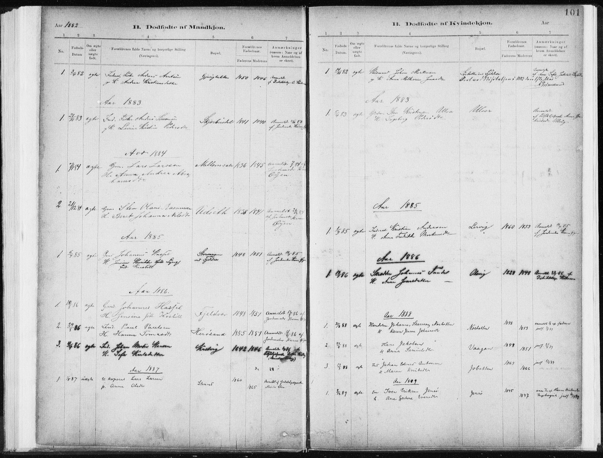 SAT, Ministerialprotokoller, klokkerbøker og fødselsregistre - Sør-Trøndelag, 637/L0558: Ministerialbok nr. 637A01, 1882-1899, s. 101