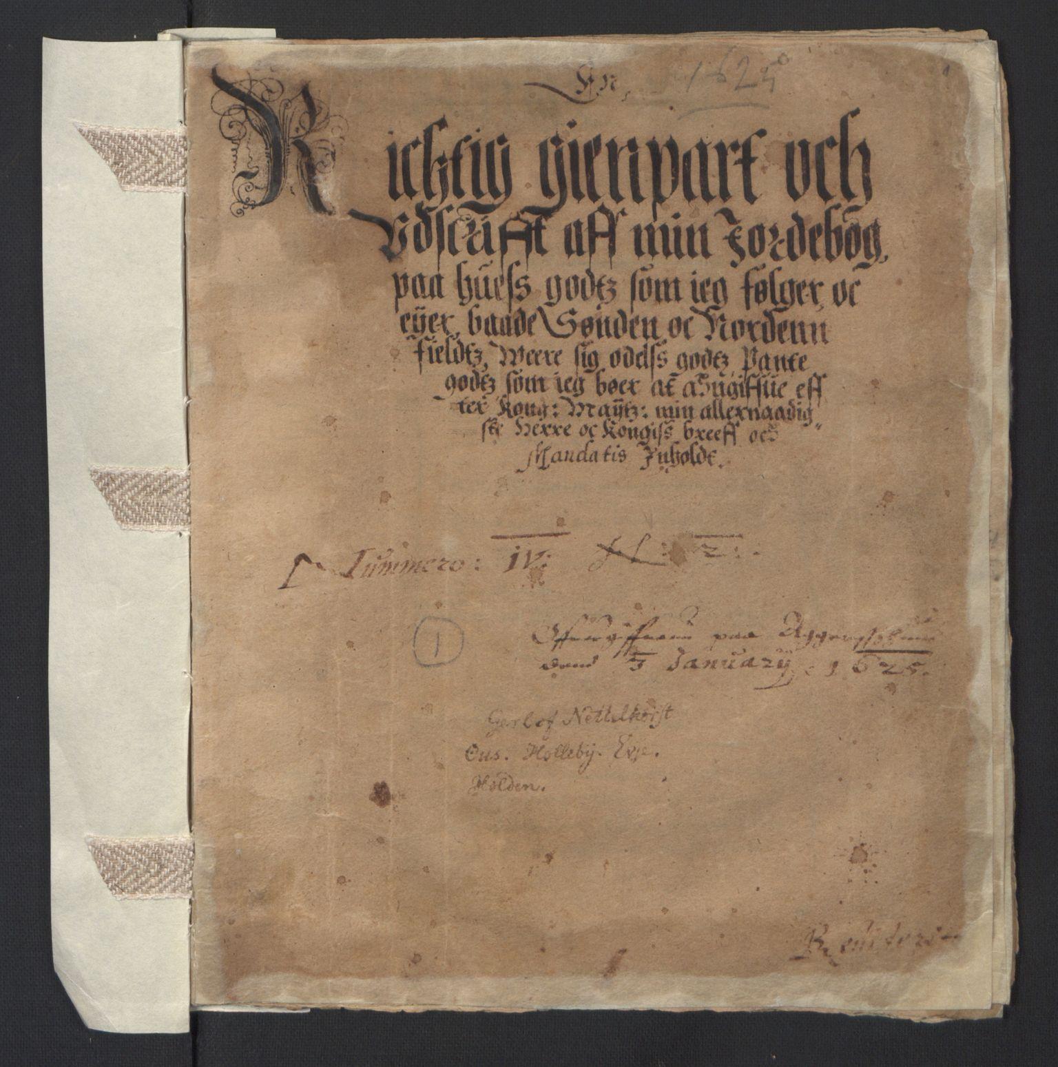 RA, Stattholderembetet 1572-1771, Ek/L0007: Jordebøker til utlikning av rosstjeneste 1624-1626:, 1624-1625, s. 115