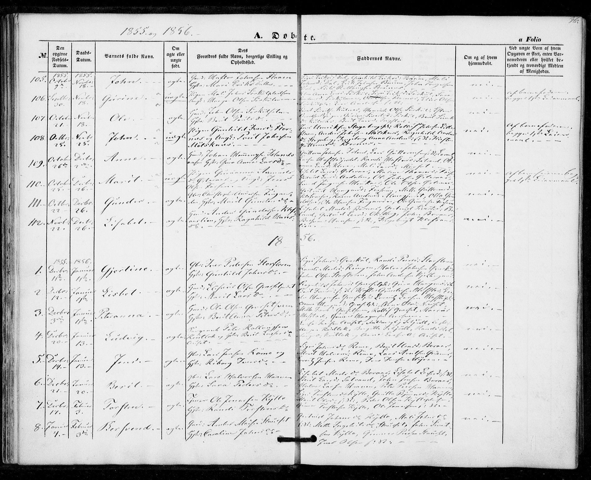SAT, Ministerialprotokoller, klokkerbøker og fødselsregistre - Nord-Trøndelag, 703/L0028: Ministerialbok nr. 703A01, 1850-1862, s. 36