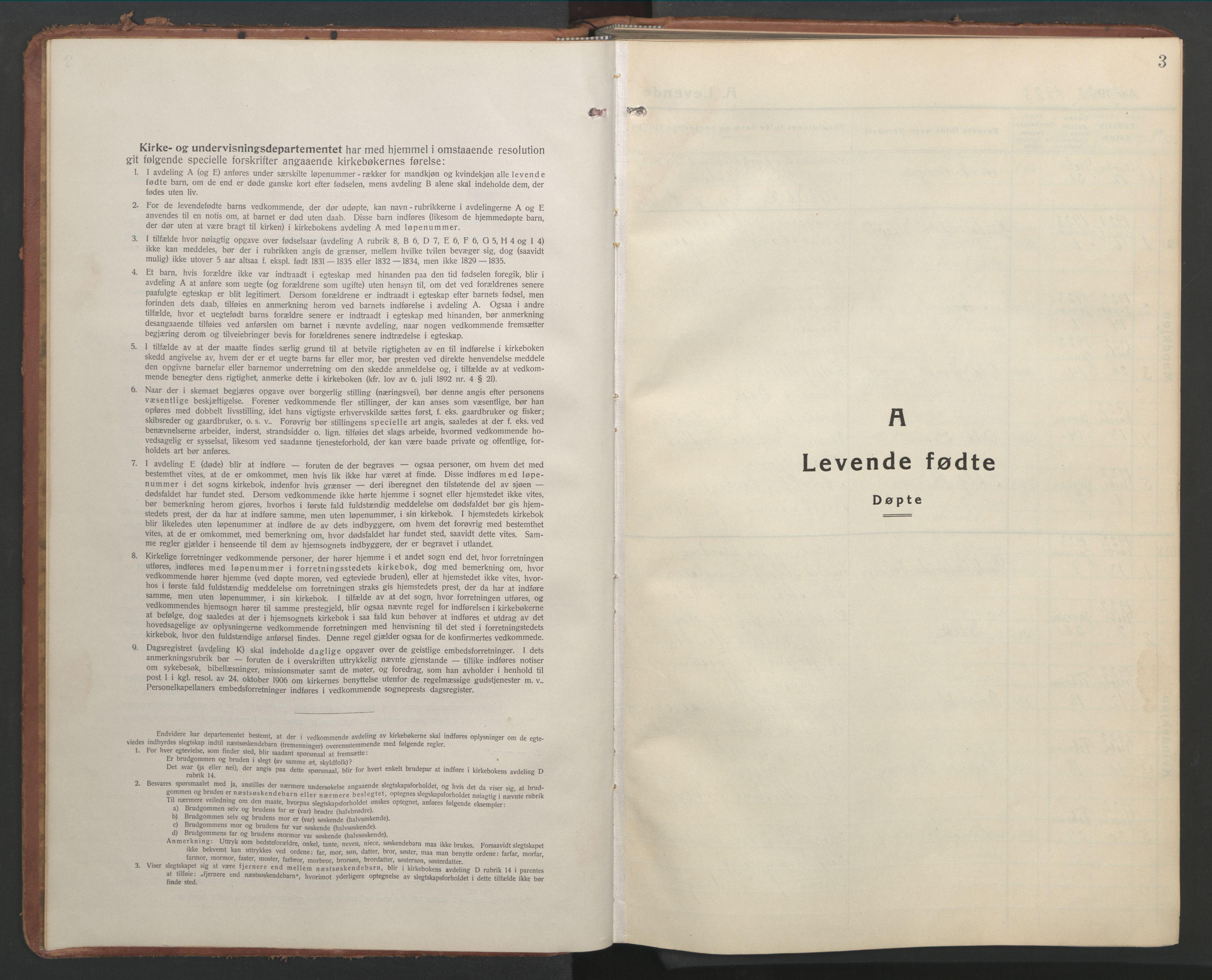 SAT, Ministerialprotokoller, klokkerbøker og fødselsregistre - Sør-Trøndelag, 603/L0174: Klokkerbok nr. 603C02, 1923-1951, s. 3