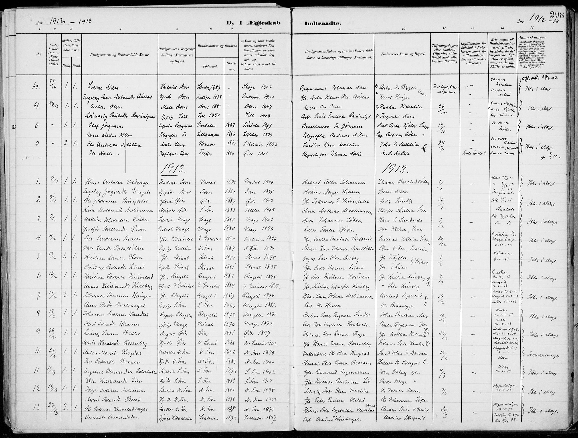 SAH, Lillehammer prestekontor, Ministerialbok nr. 1, 1901-1916, s. 298