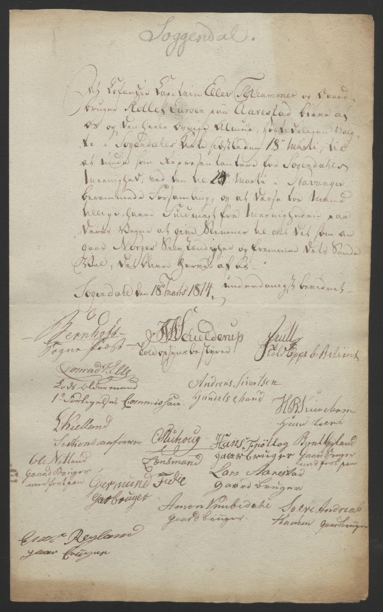 RA, Statsrådssekretariatet, D/Db/L0008: Fullmakter for Eidsvollsrepresentantene i 1814. , 1814, s. 251