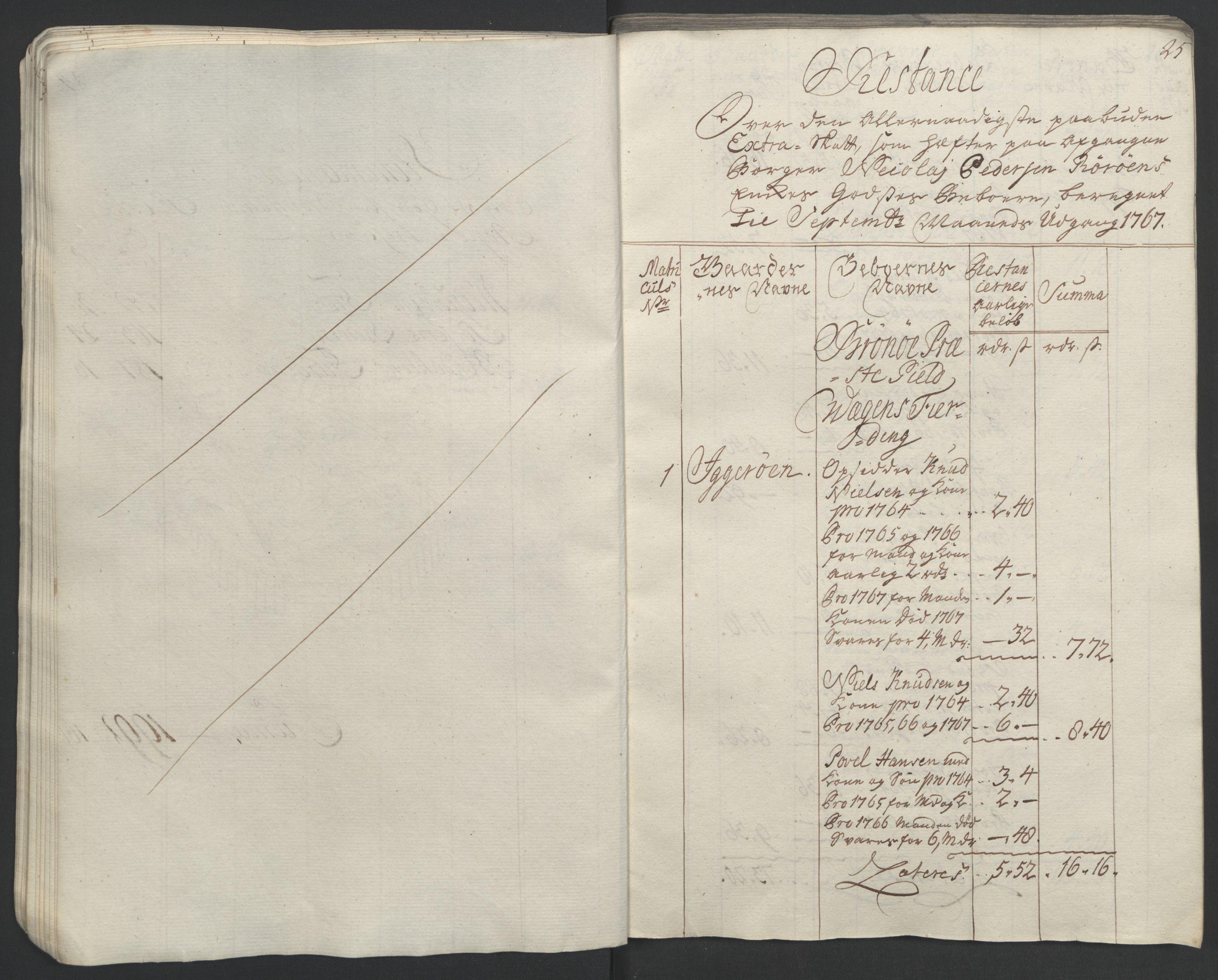 RA, Rentekammeret inntil 1814, Realistisk ordnet avdeling, Ol/L0023: [Gg 10]: Ekstraskatten, 23.09.1762. Helgeland (restanseregister), 1767-1772, s. 27