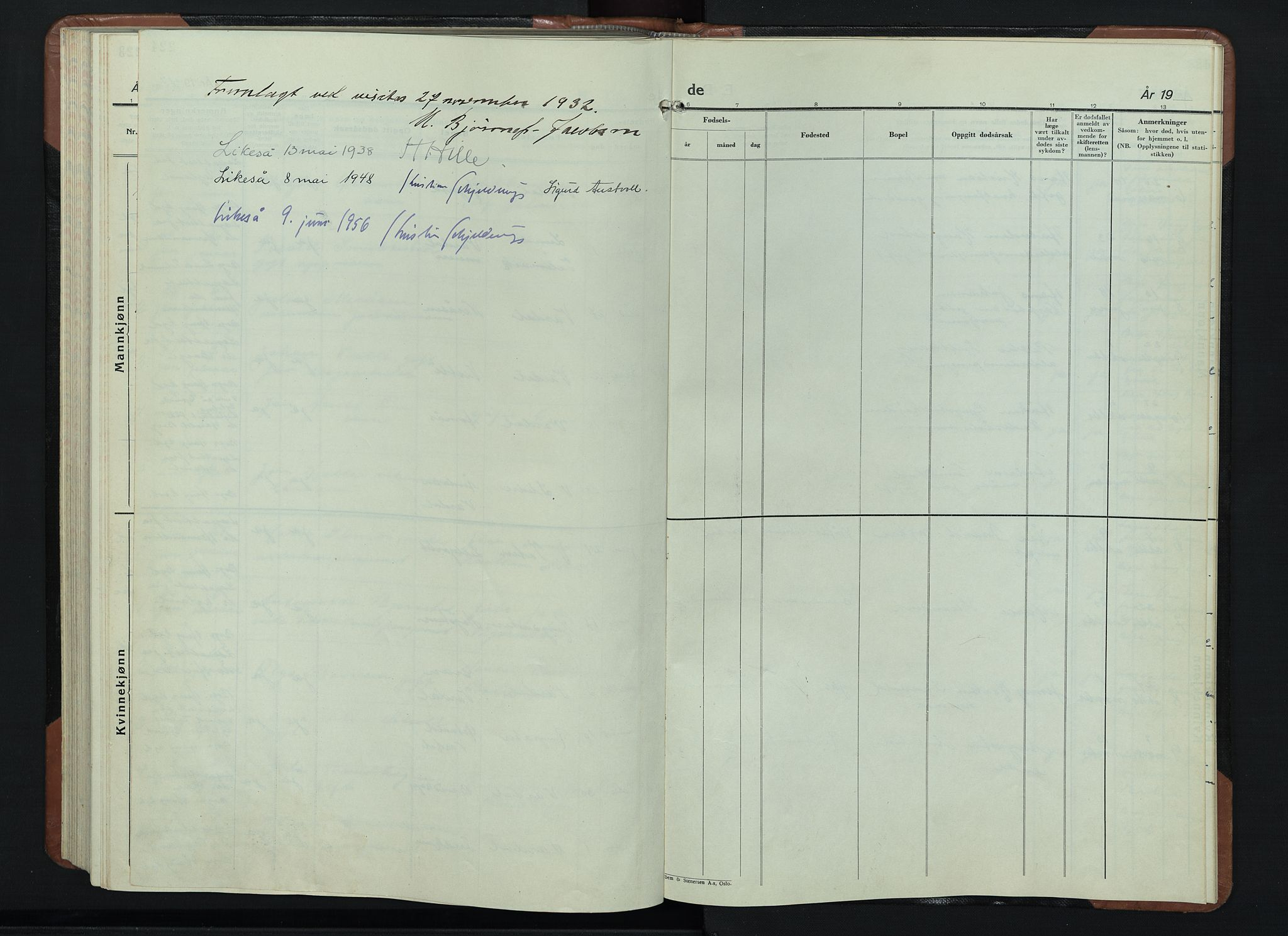 SAH, Vardal prestekontor, H/Ha/Hab/L0018: Klokkerbok nr. 18, 1931-1951