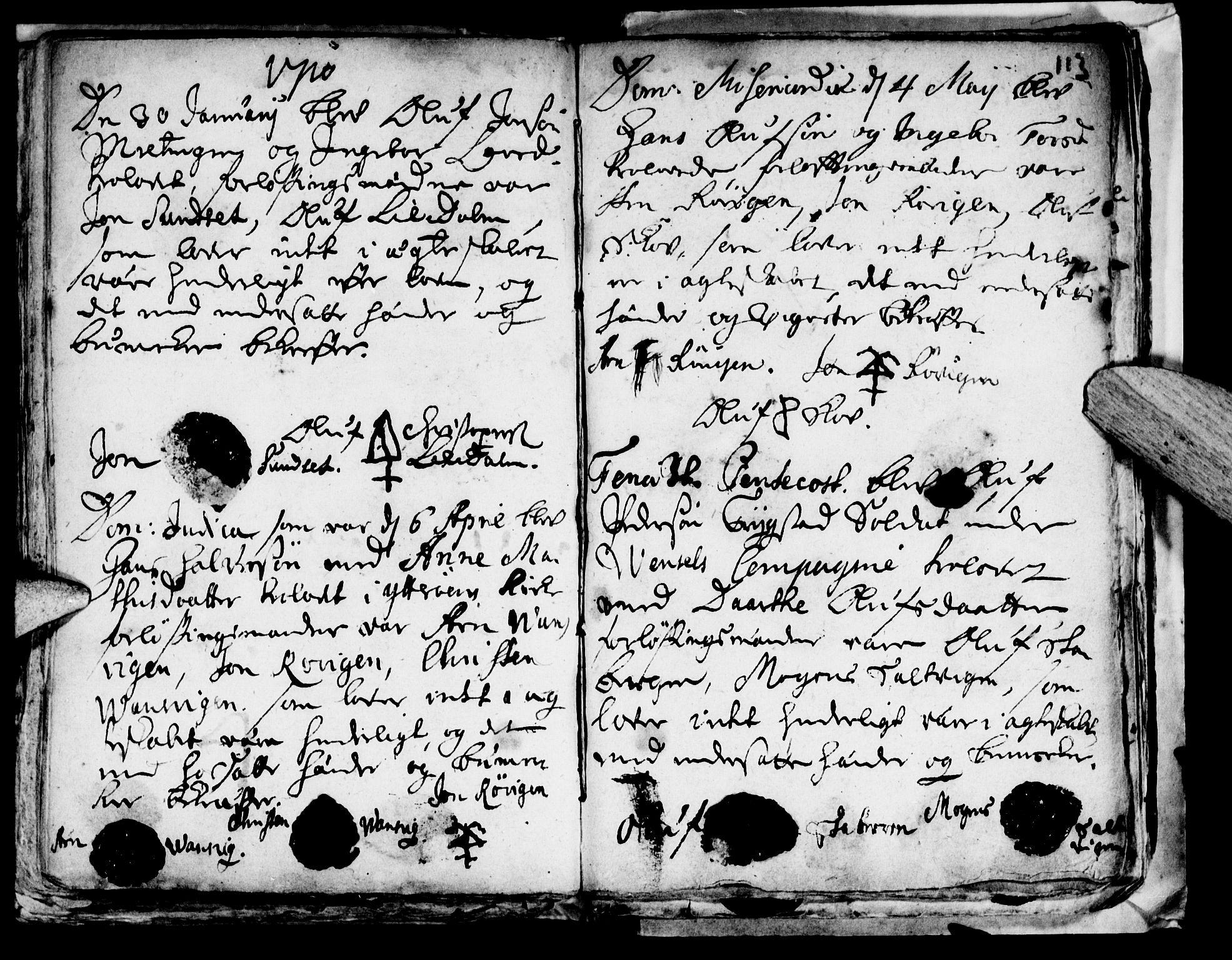 SAT, Ministerialprotokoller, klokkerbøker og fødselsregistre - Nord-Trøndelag, 722/L0214: Ministerialbok nr. 722A01, 1692-1718, s. 113