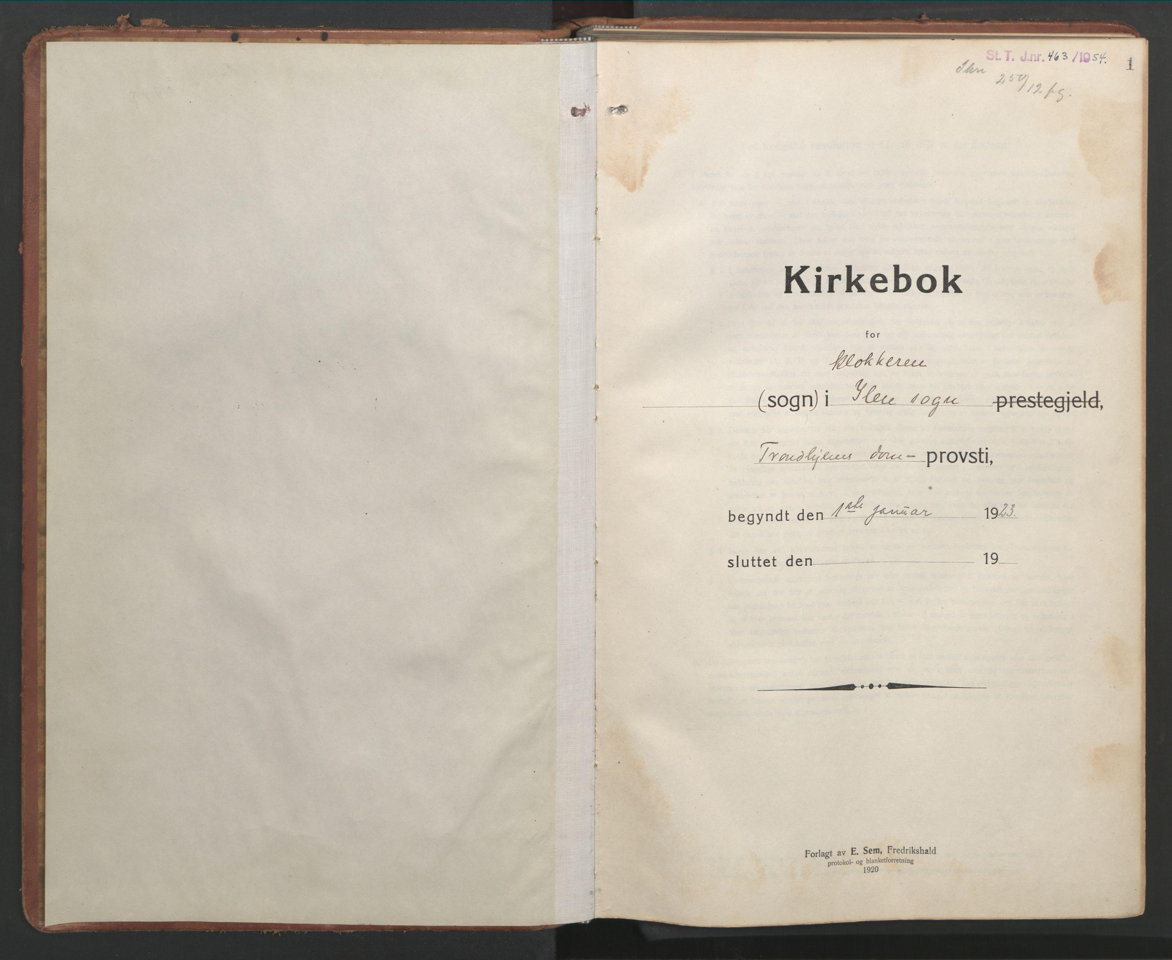 SAT, Ministerialprotokoller, klokkerbøker og fødselsregistre - Sør-Trøndelag, 603/L0174: Klokkerbok nr. 603C02, 1923-1951, s. 1