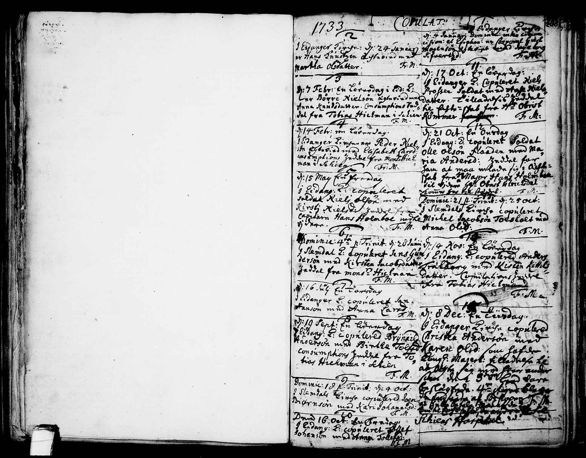 SAKO, Eidanger kirkebøker, F/Fa/L0004: Ministerialbok nr. 4, 1733-1759, s. mangler-268