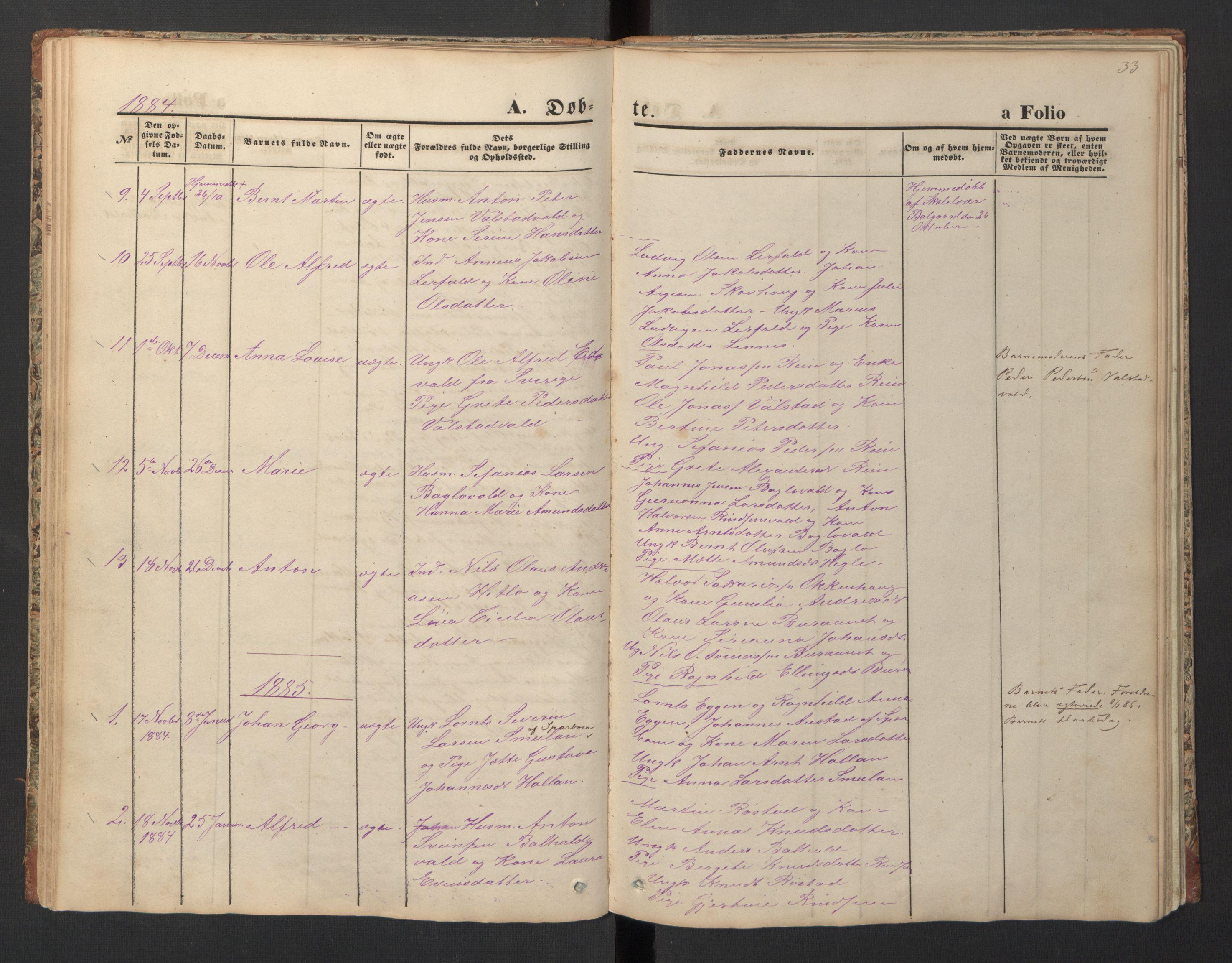 SAT, Ministerialprotokoller, klokkerbøker og fødselsregistre - Nord-Trøndelag, 726/L0271: Klokkerbok nr. 726C02, 1869-1897, s. 33