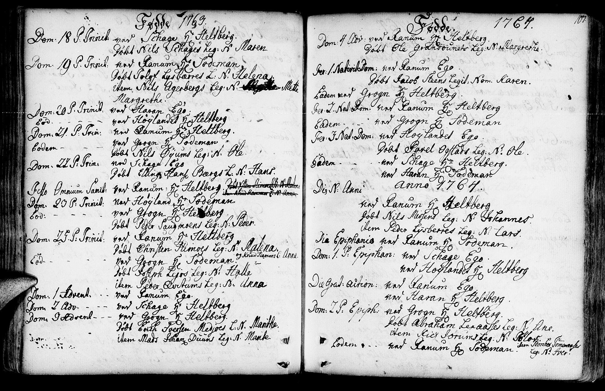 SAT, Ministerialprotokoller, klokkerbøker og fødselsregistre - Nord-Trøndelag, 764/L0542: Ministerialbok nr. 764A02, 1748-1779, s. 107