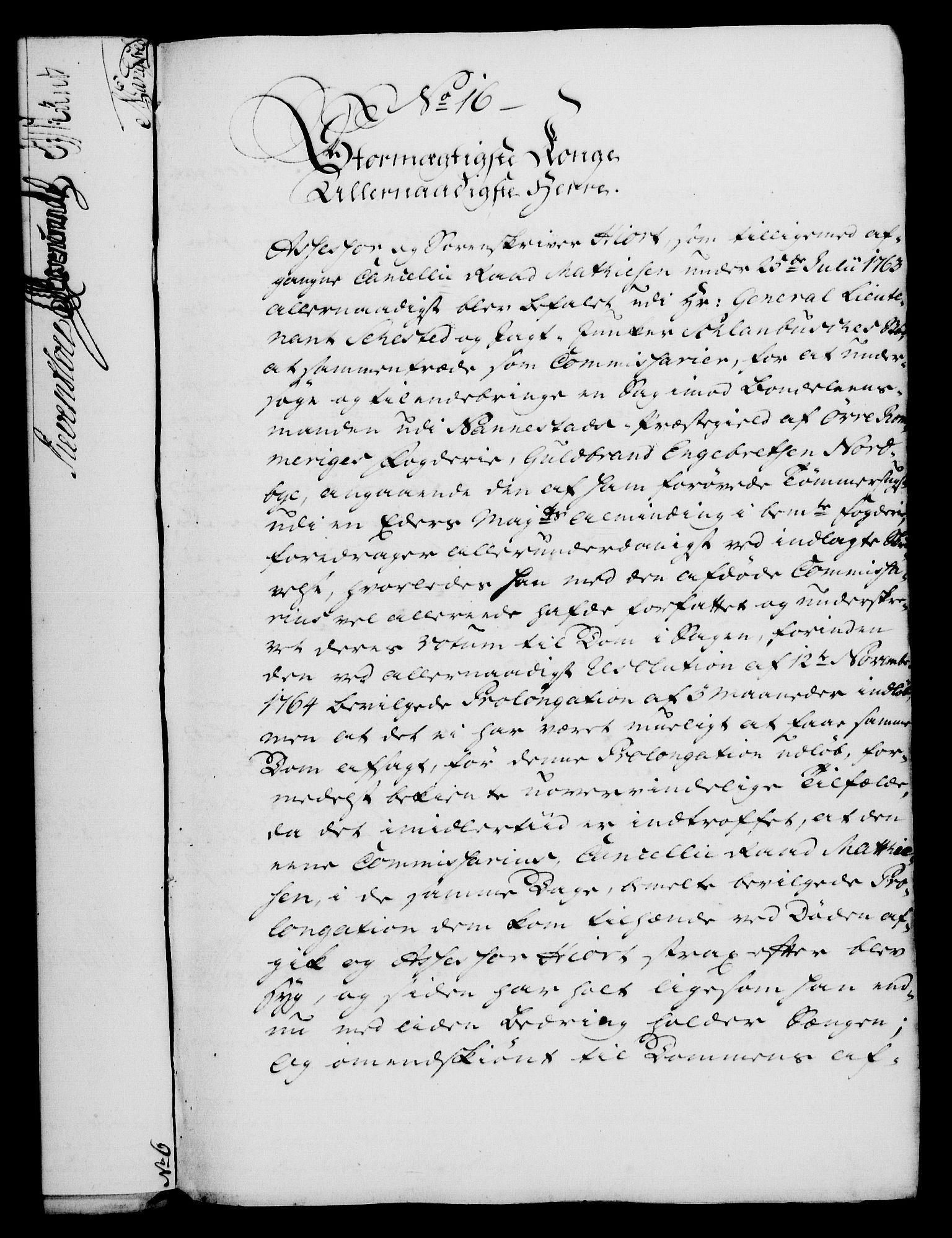 RA, Rentekammeret, Kammerkanselliet, G/Gf/Gfa/L0047: Norsk relasjons- og resolusjonsprotokoll (merket RK 52.47), 1765, s. 97