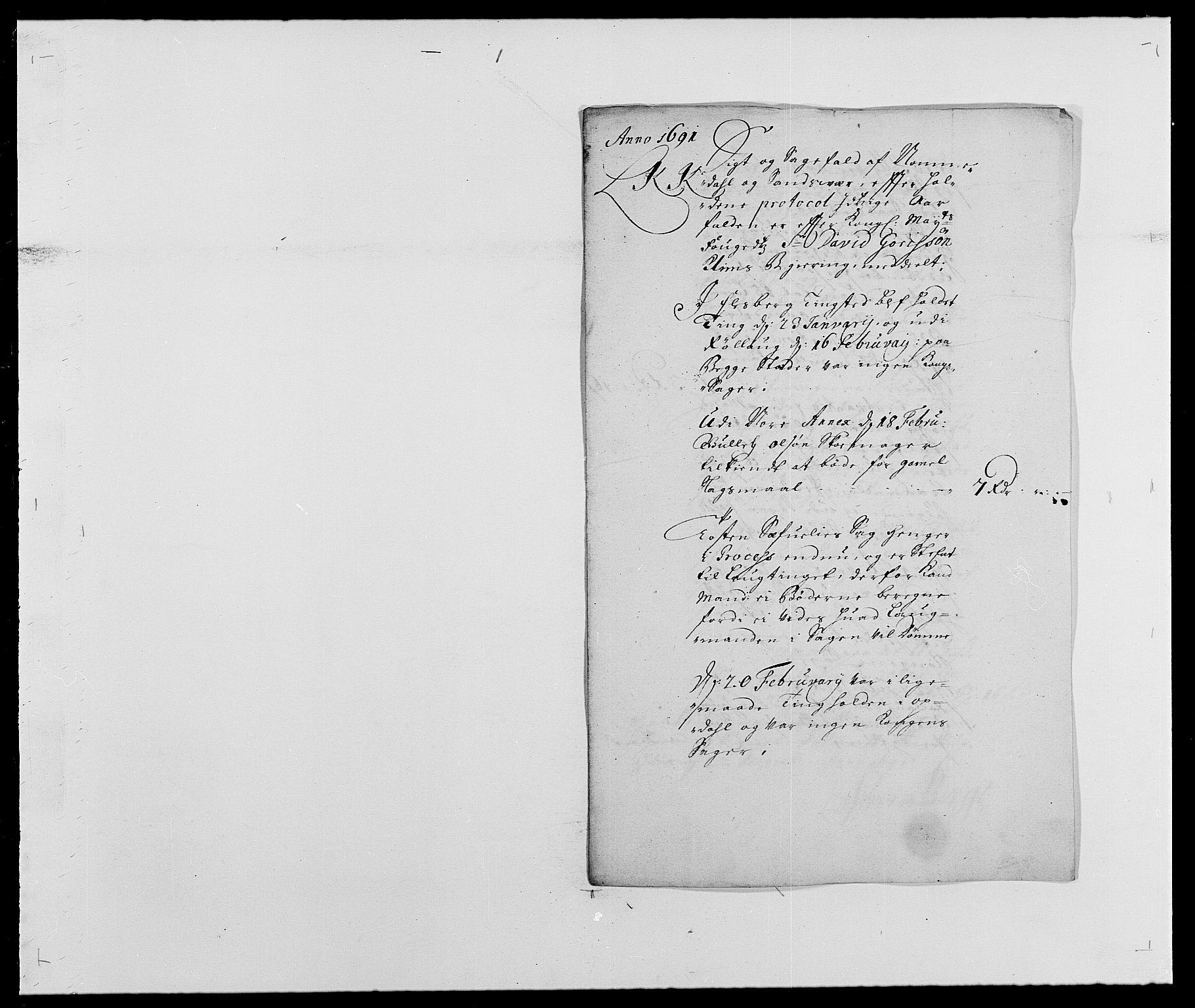 RA, Rentekammeret inntil 1814, Reviderte regnskaper, Fogderegnskap, R24/L1573: Fogderegnskap Numedal og Sandsvær, 1687-1691, s. 475
