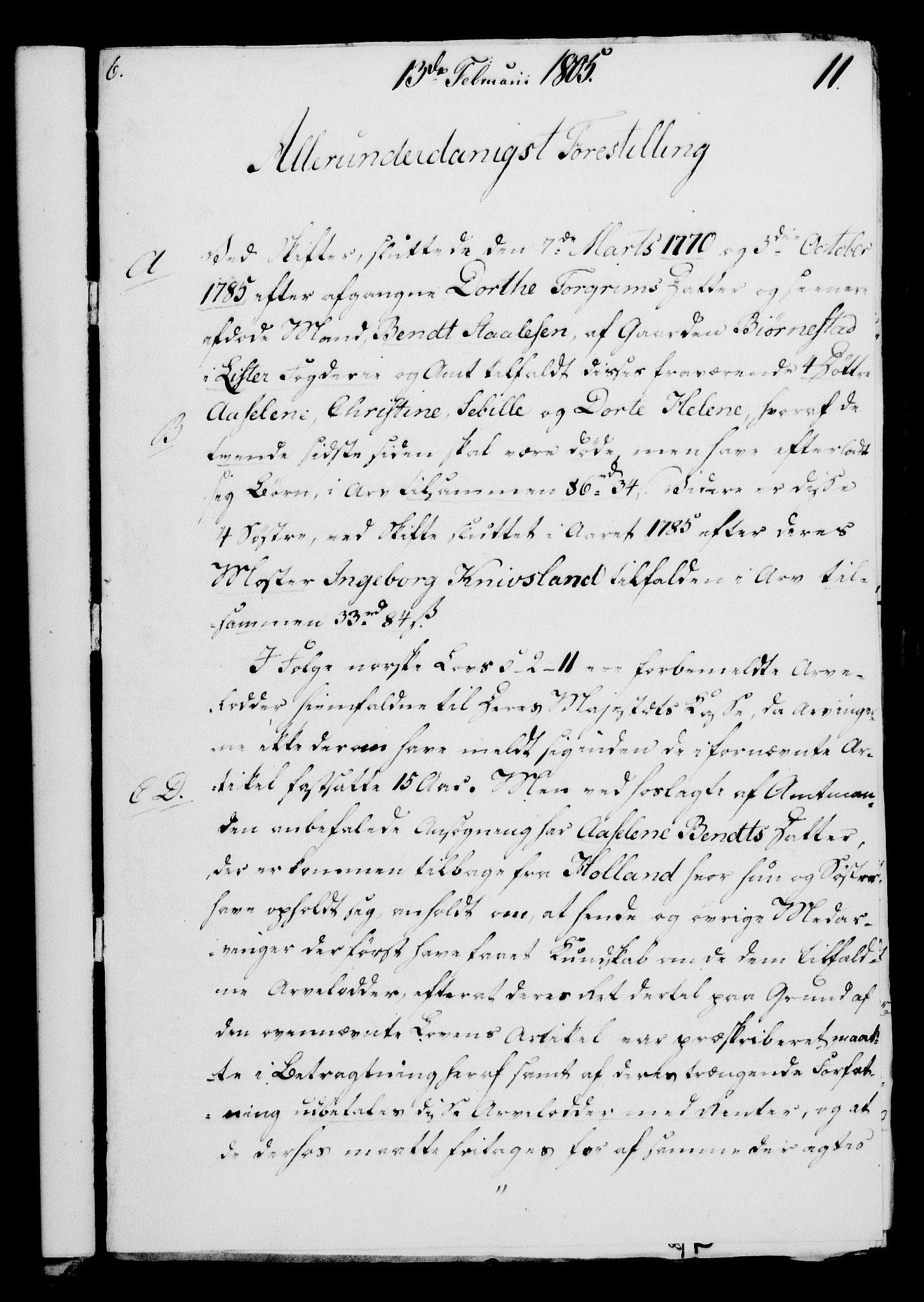 RA, Rentekammeret, Kammerkanselliet, G/Gf/Gfa/L0087: Norsk relasjons- og resolusjonsprotokoll (merket RK 52.87), 1805, s. 75