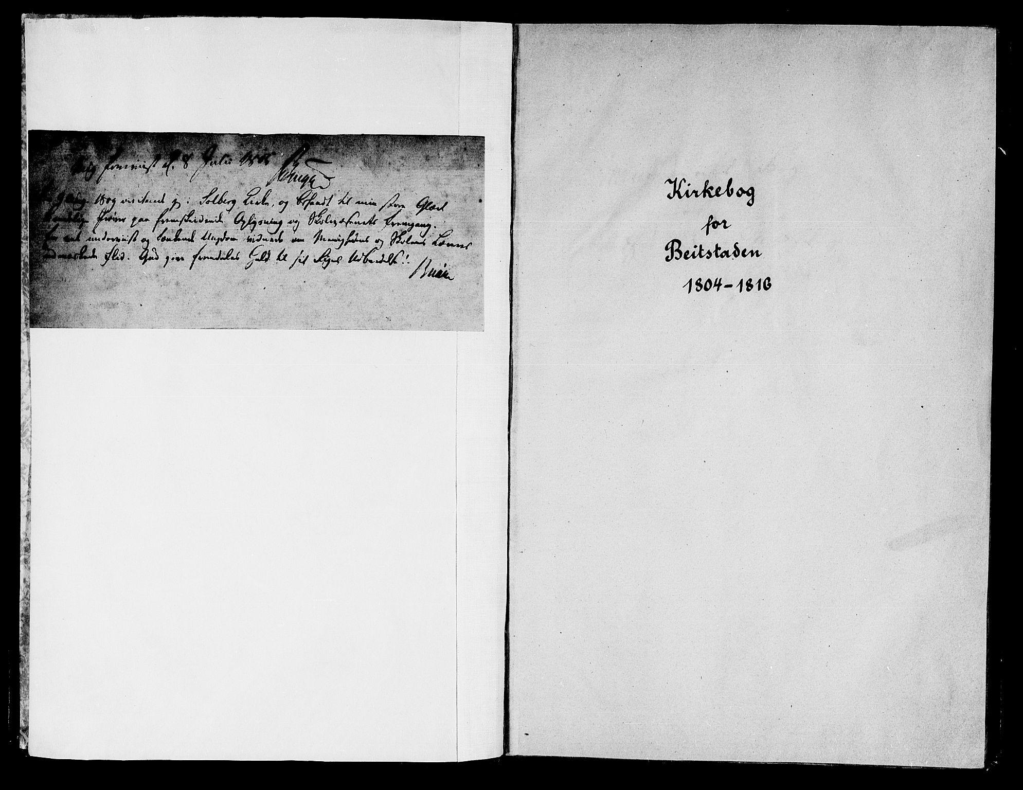 SAT, Ministerialprotokoller, klokkerbøker og fødselsregistre - Nord-Trøndelag, 741/L0386: Ministerialbok nr. 741A02, 1804-1816