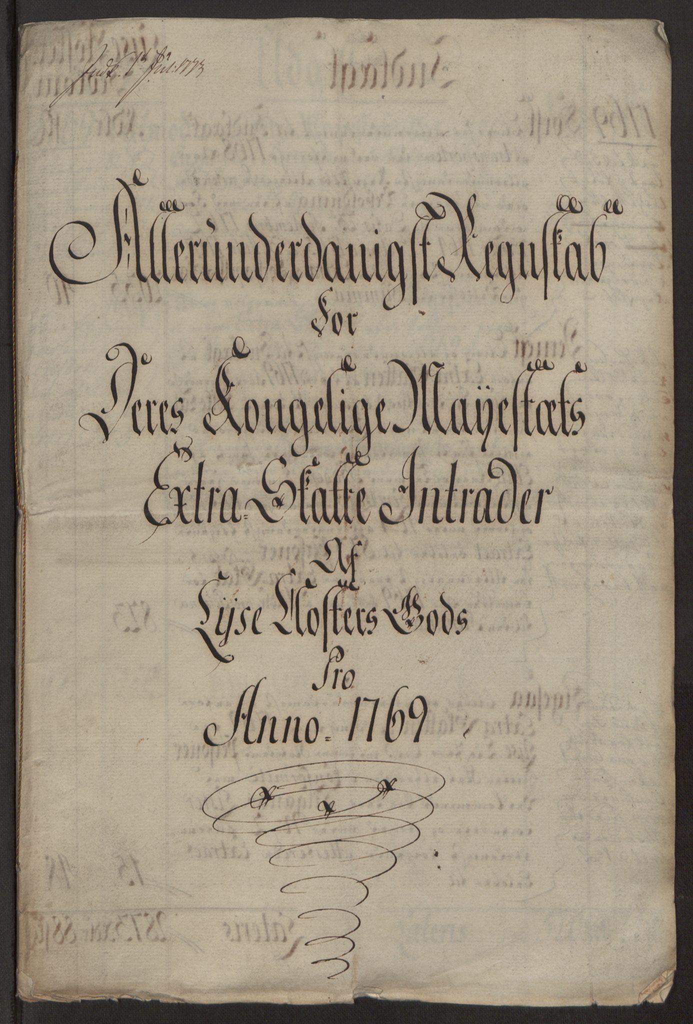 RA, Rentekammeret inntil 1814, Reviderte regnskaper, Fogderegnskap, R50/L3180: Ekstraskatten Lyse kloster, 1762-1783, s. 209
