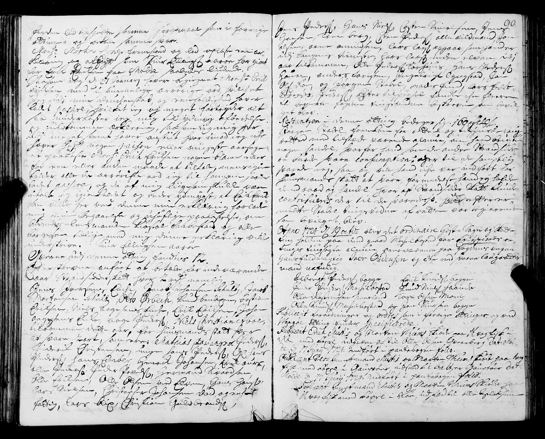 SAT, Romsdal sorenskriveri, 1/1A/L0009: Tingbok, 1722-1728, s. 89b-90a