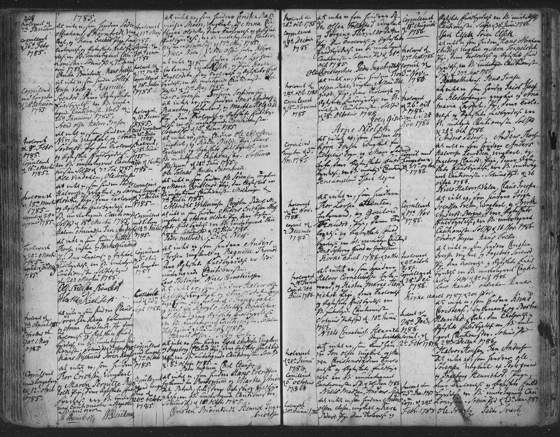 SAKO, Solum kirkebøker, F/Fa/L0003: Ministerialbok nr. I 3, 1761-1814, s. 208-209