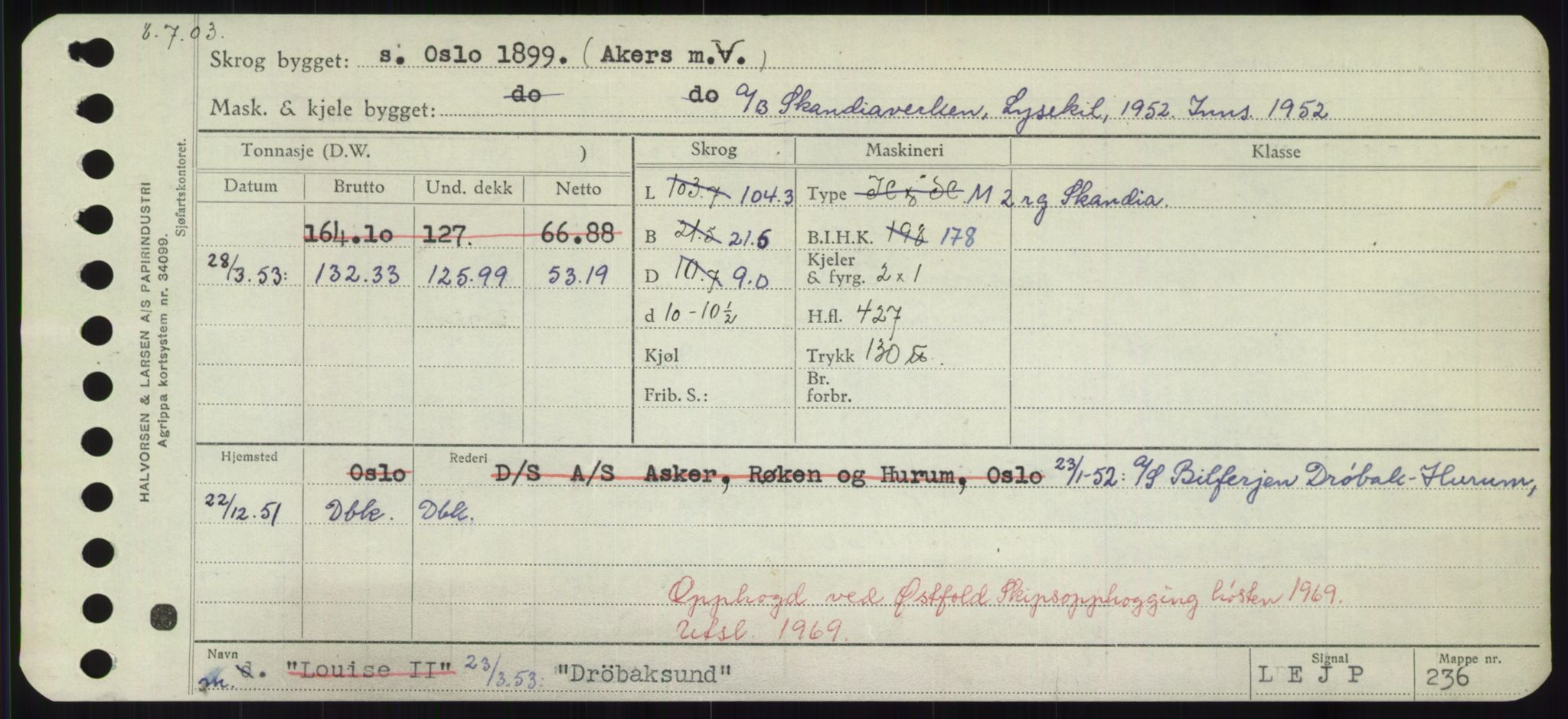 RA, Sjøfartsdirektoratet med forløpere, Skipsmålingen, H/Hd/L0008: Fartøy, C-D, s. 665