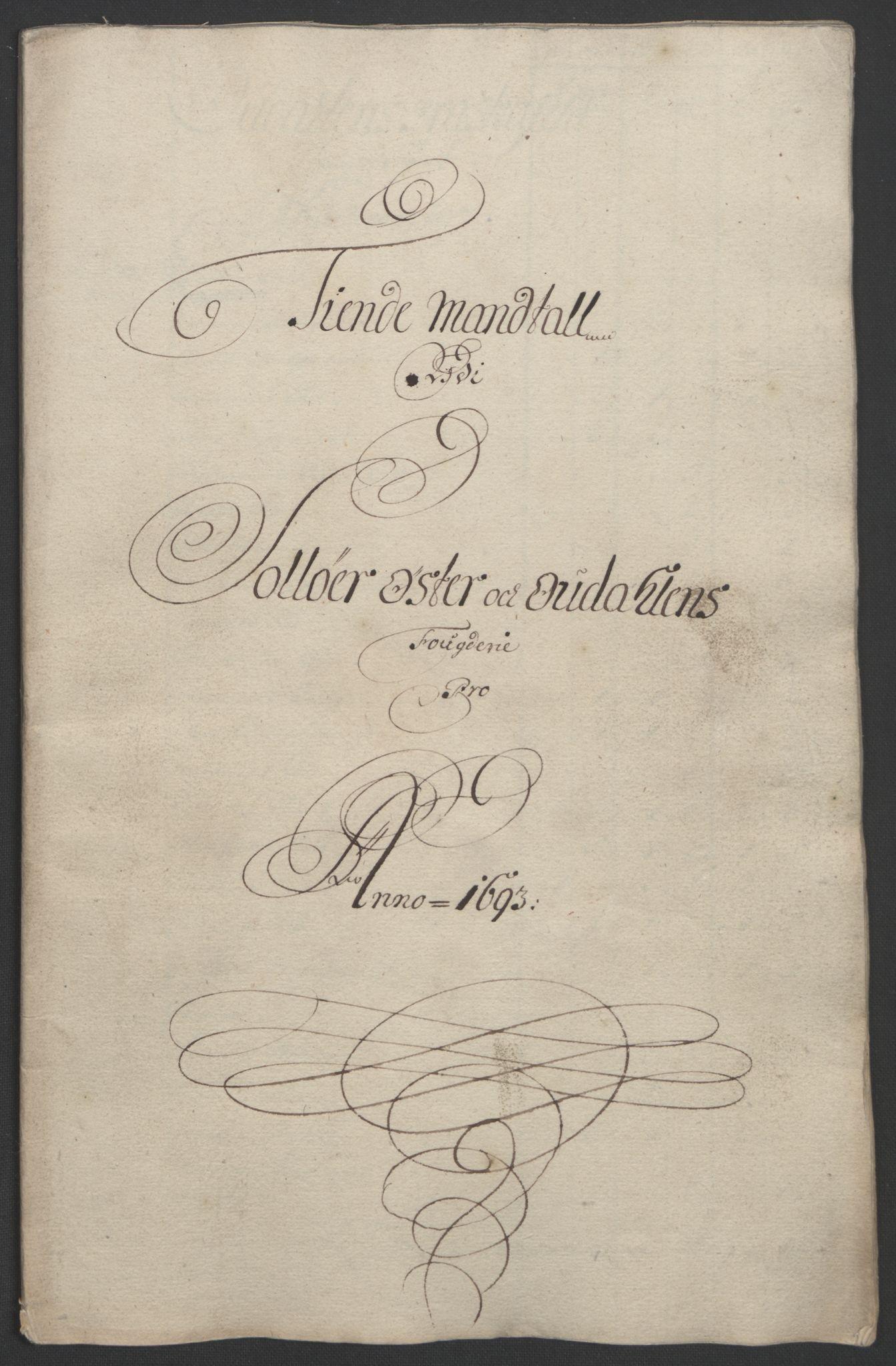 RA, Rentekammeret inntil 1814, Reviderte regnskaper, Fogderegnskap, R13/L0831: Fogderegnskap Solør, Odal og Østerdal, 1693, s. 177