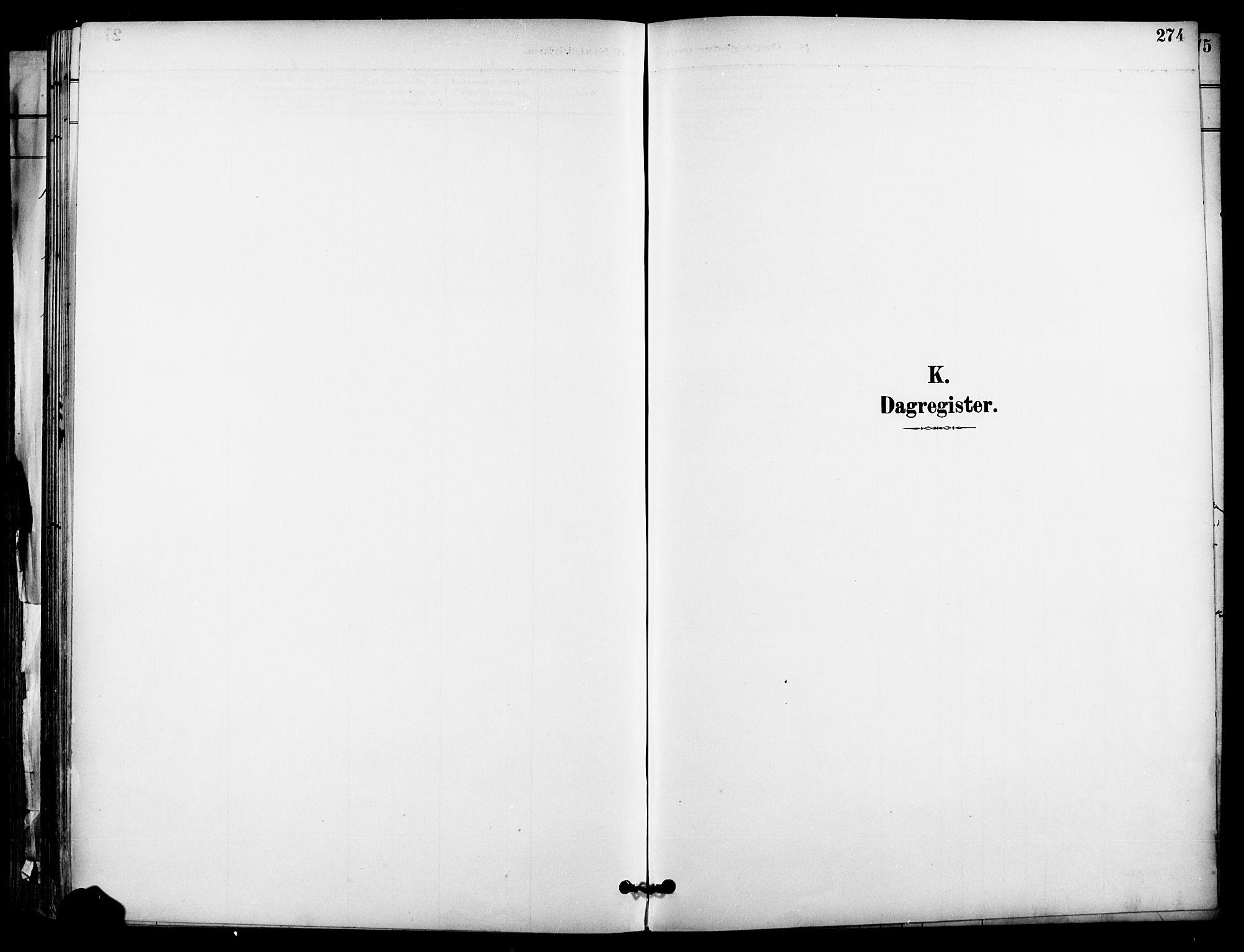 SAO, Garnisonsmenigheten Kirkebøker, F/Fa/L0013: Ministerialbok nr. 13, 1894-1904, s. 274