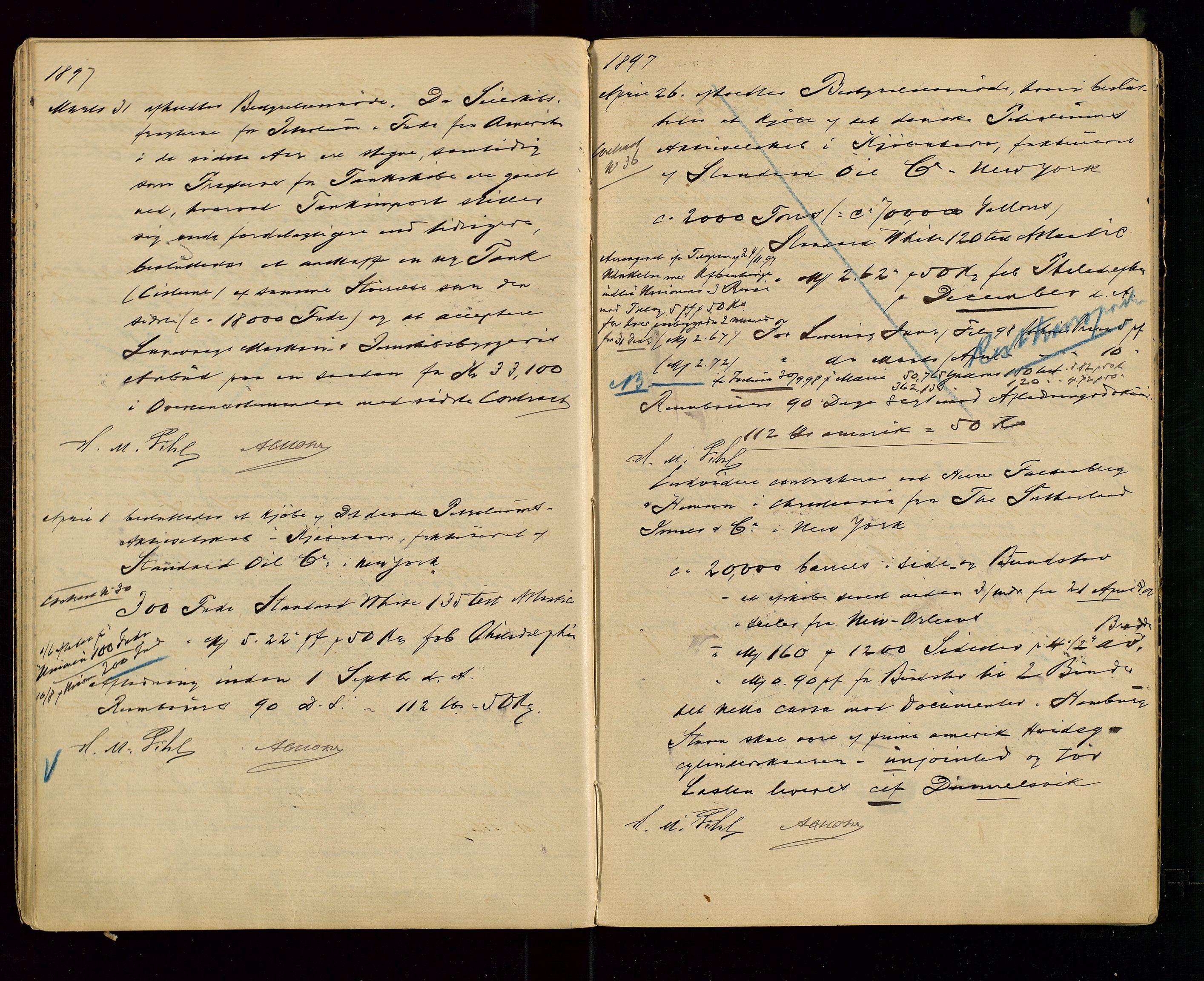 SAST, PA 1533 - A/S Vestlandske Petroleumscompani, A/Aa/L0001: Generalforsamlinger og styreprotokoller, 1890-1907, s. 30