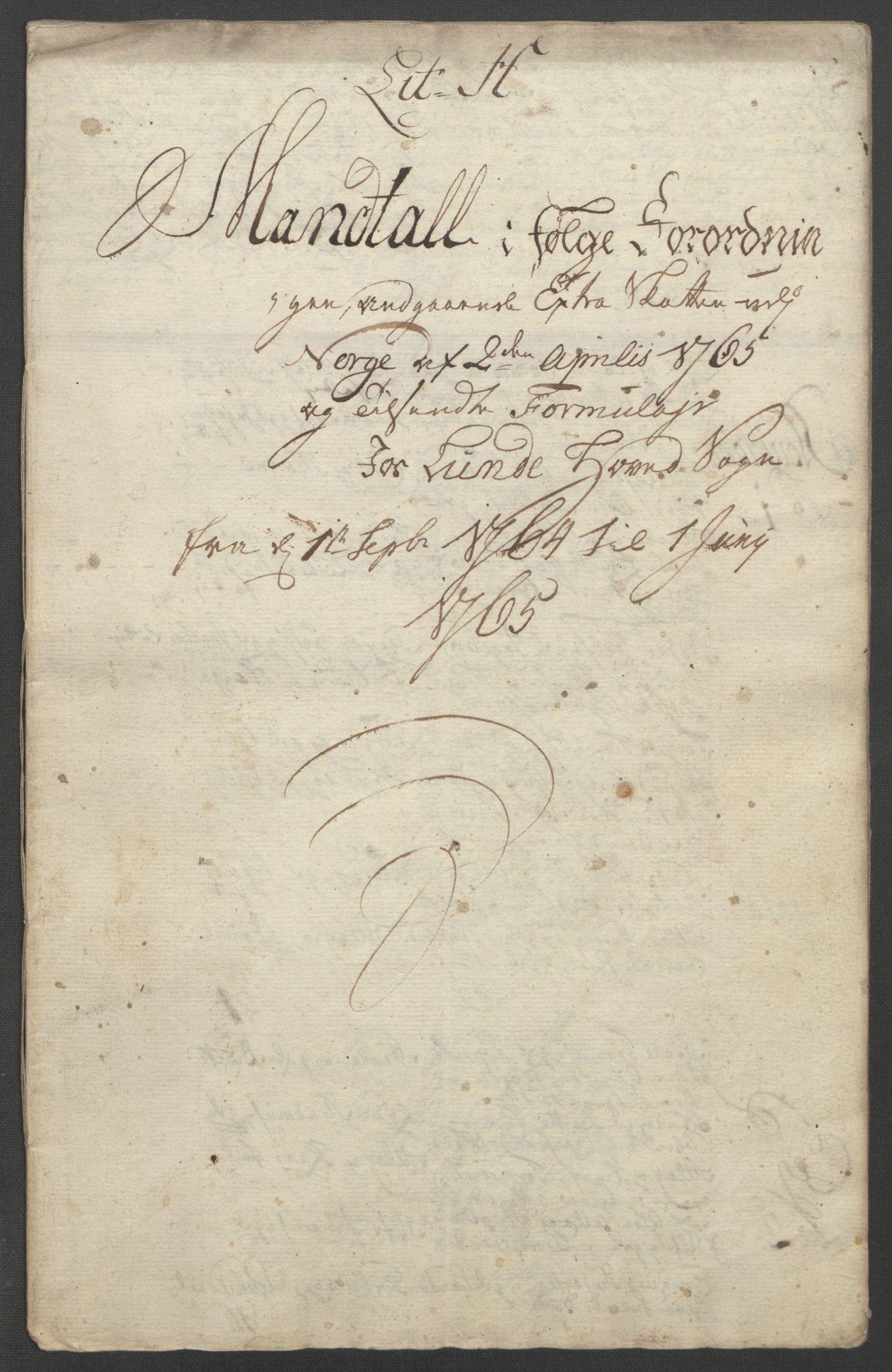 RA, Rentekammeret inntil 1814, Reviderte regnskaper, Fogderegnskap, R46/L2836: Ekstraskatten Jæren og Dalane, 1764-1766, s. 191