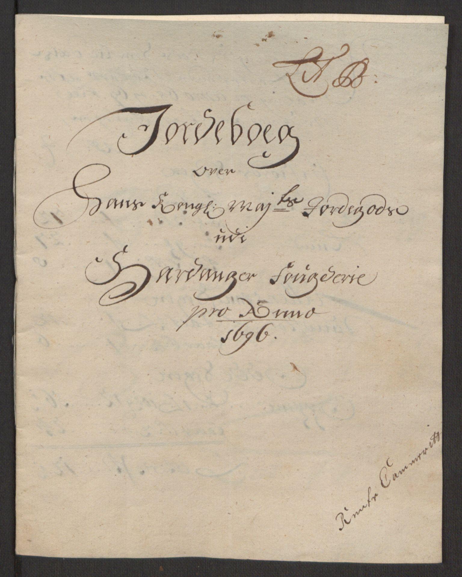 RA, Rentekammeret inntil 1814, Reviderte regnskaper, Fogderegnskap, R48/L2976: Fogderegnskap Sunnhordland og Hardanger, 1695-1696, s. 467