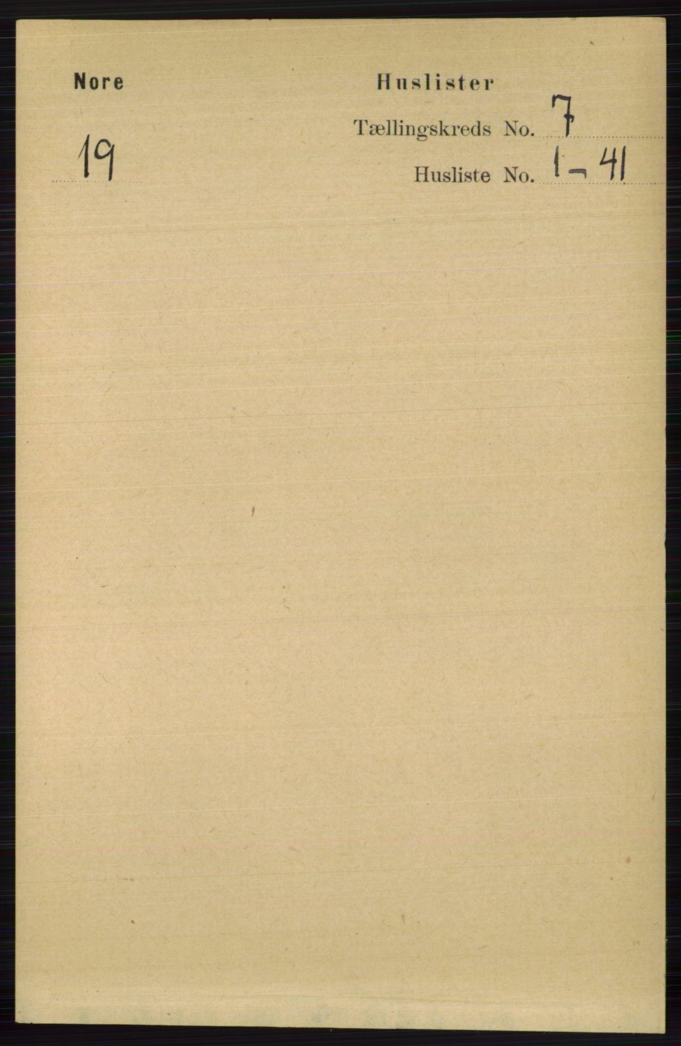 RA, Folketelling 1891 for 0633 Nore herred, 1891, s. 2562