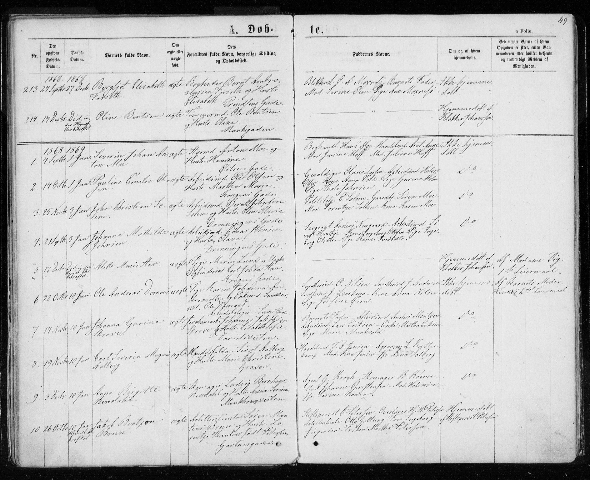 SAT, Ministerialprotokoller, klokkerbøker og fødselsregistre - Sør-Trøndelag, 601/L0054: Ministerialbok nr. 601A22, 1866-1877, s. 49