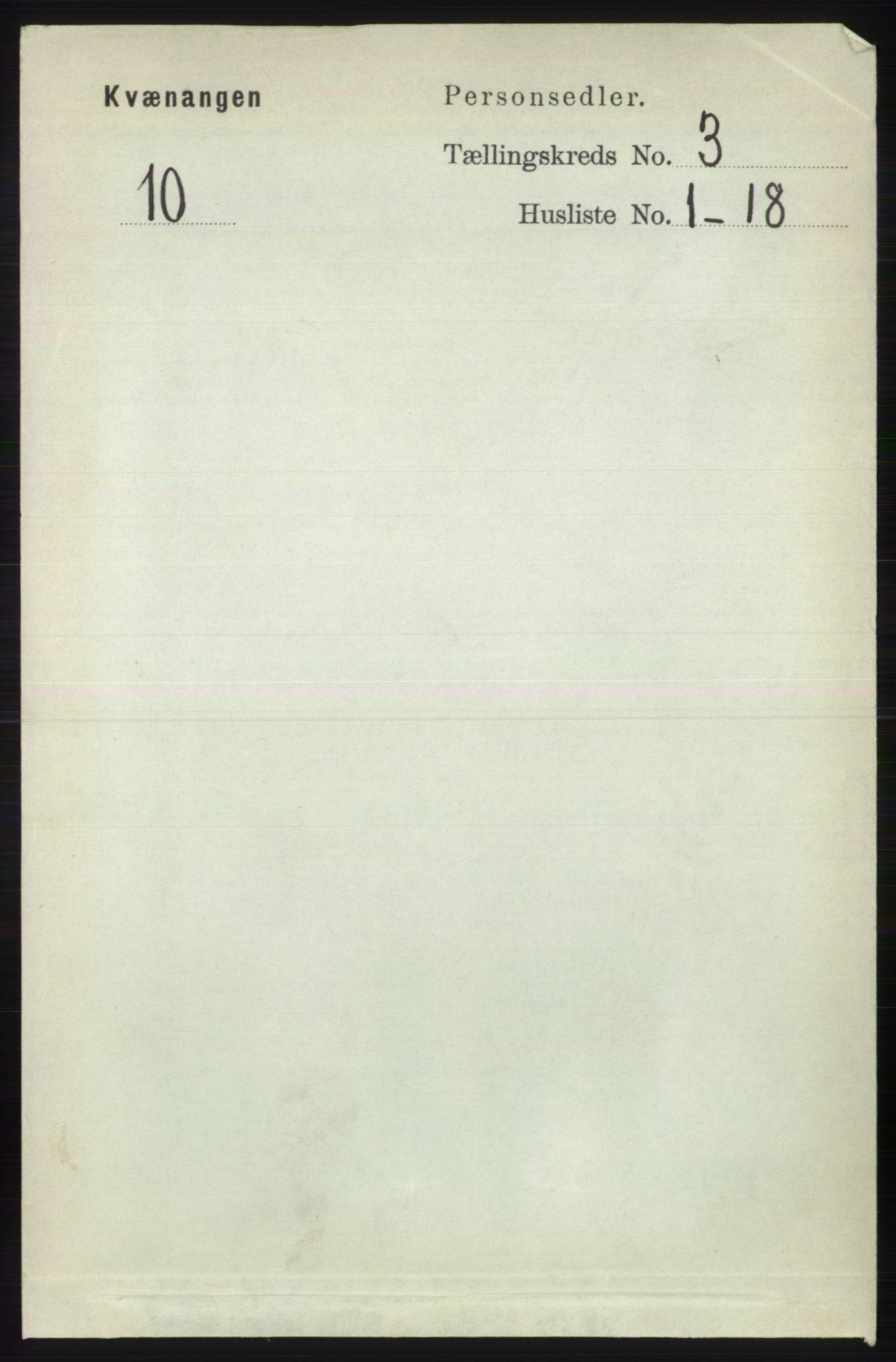 RA, Folketelling 1891 for 1943 Kvænangen herred, 1891, s. 1064