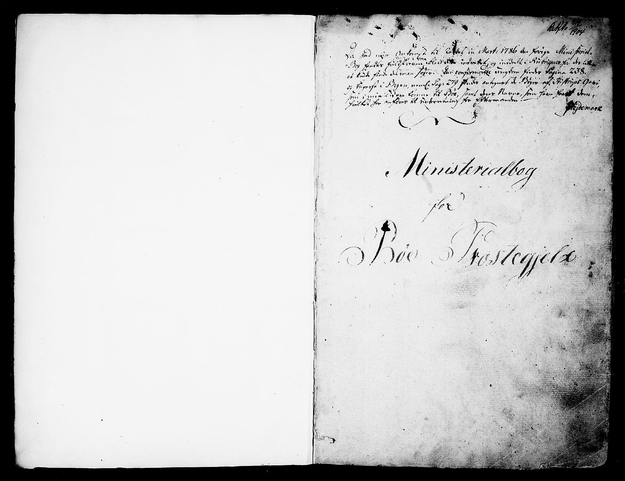 SAKO, Bø kirkebøker, F/Fa/L0005: Ministerialbok nr. 5, 1785-1815