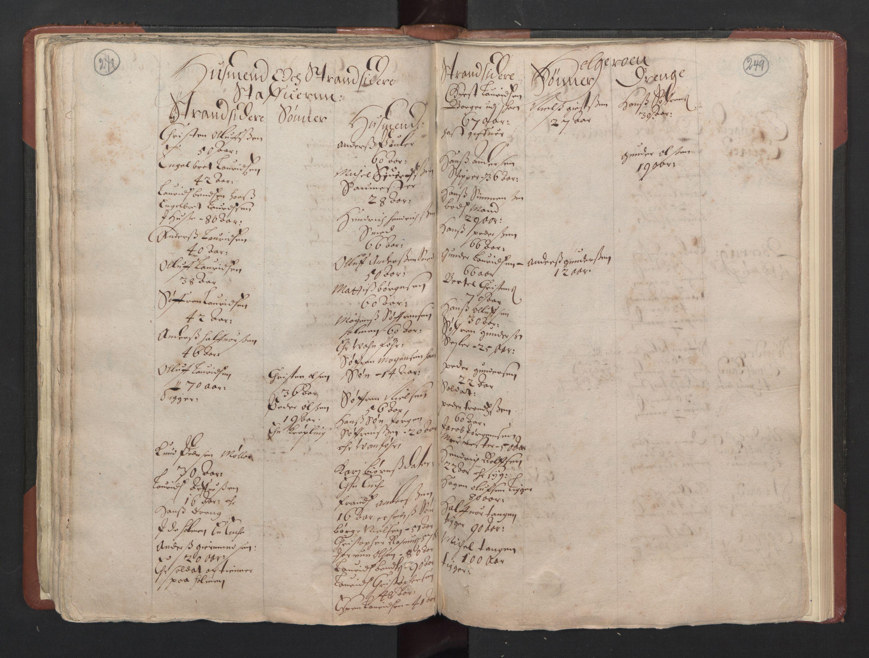 RA, Fogdenes og sorenskrivernes manntall 1664-1666, nr. 5: Fogderier (len og skipreider) i nåværende Buskerud fylke og Vestfold fylke, 1664, s. 248-249