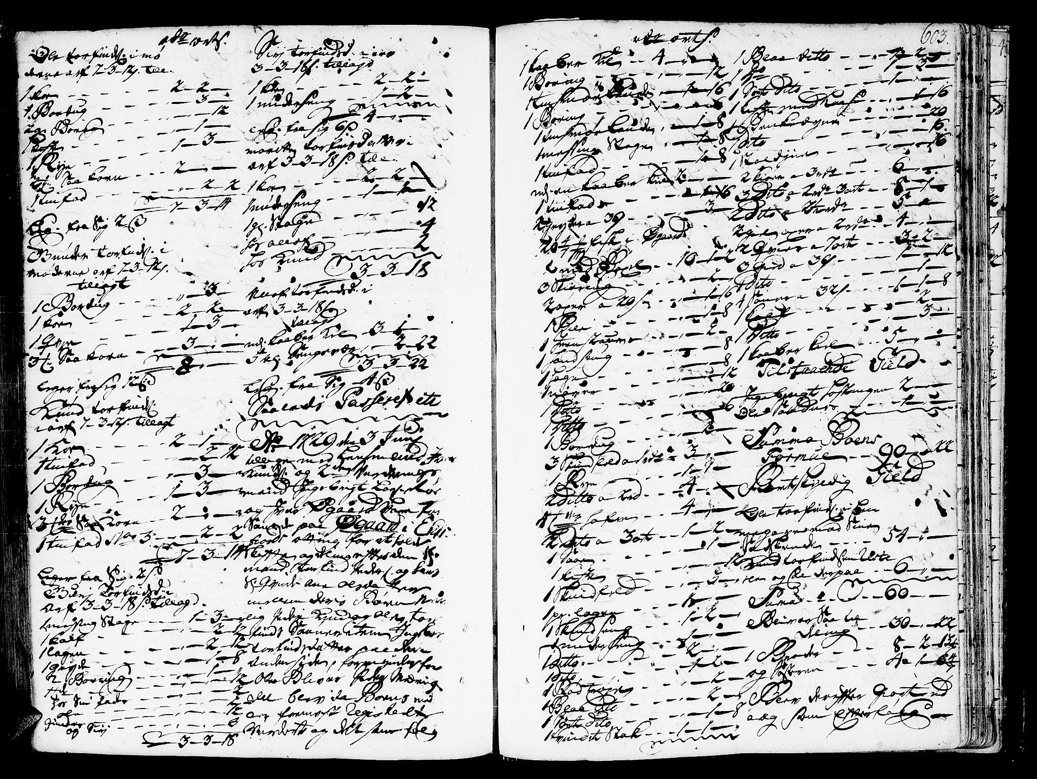 SAT, Romsdal sorenskriveri, 3/3A/L0006: Skifteprotokoll, 1718-1730, s. 602b-603a