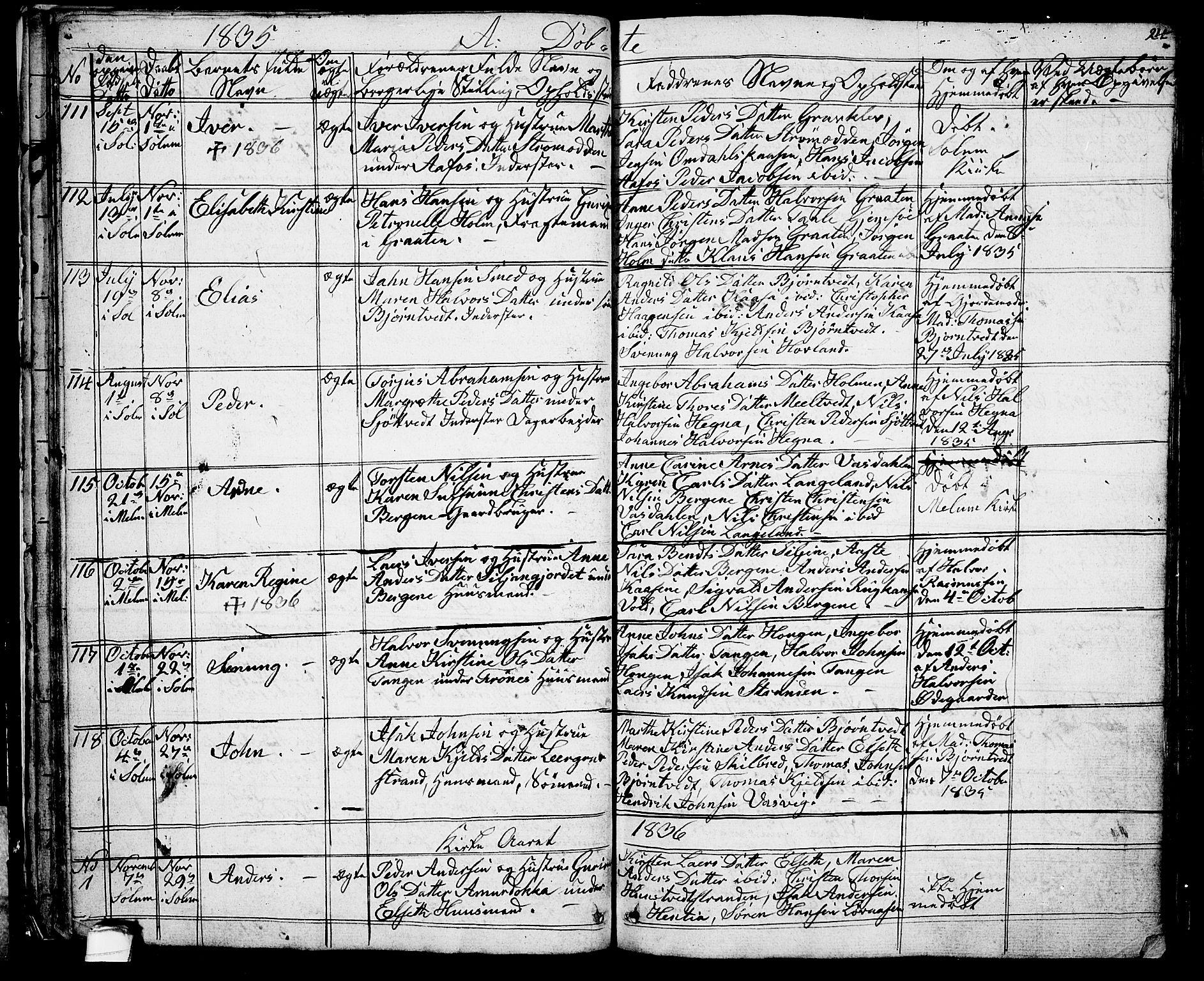 SAKO, Solum kirkebøker, G/Ga/L0002: Klokkerbok nr. I 2, 1834-1848, s. 24