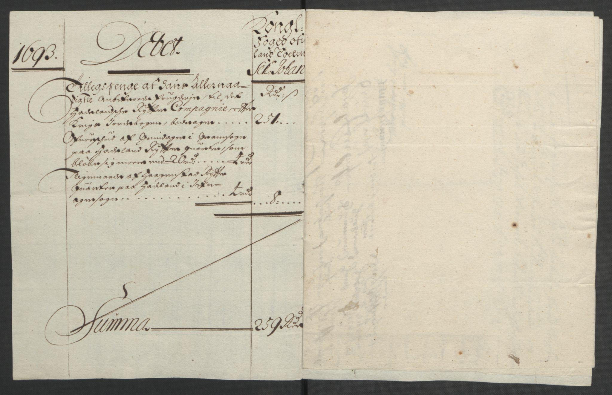 RA, Rentekammeret inntil 1814, Reviderte regnskaper, Fogderegnskap, R18/L1292: Fogderegnskap Hadeland, Toten og Valdres, 1693-1694, s. 146