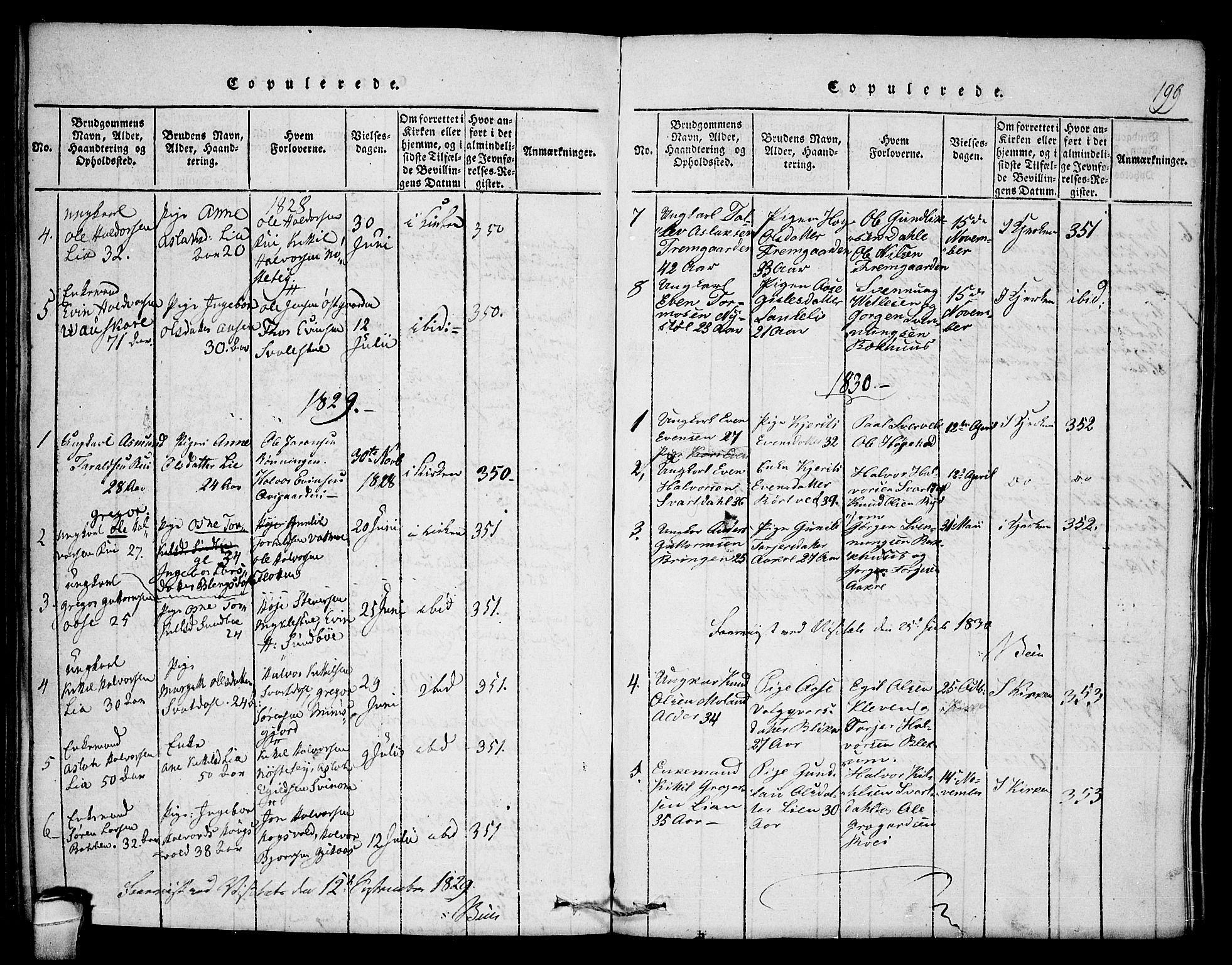 SAKO, Seljord kirkebøker, F/Fb/L0001: Ministerialbok nr. II 1, 1815-1831, s. 199