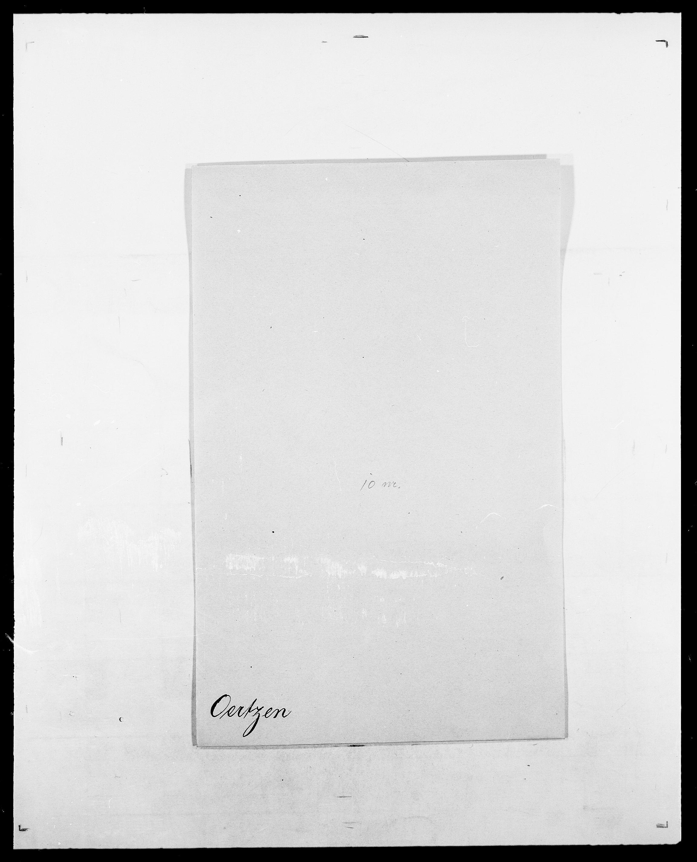 SAO, Delgobe, Charles Antoine - samling, D/Da/L0029: Obel - Oxholm, s. 23