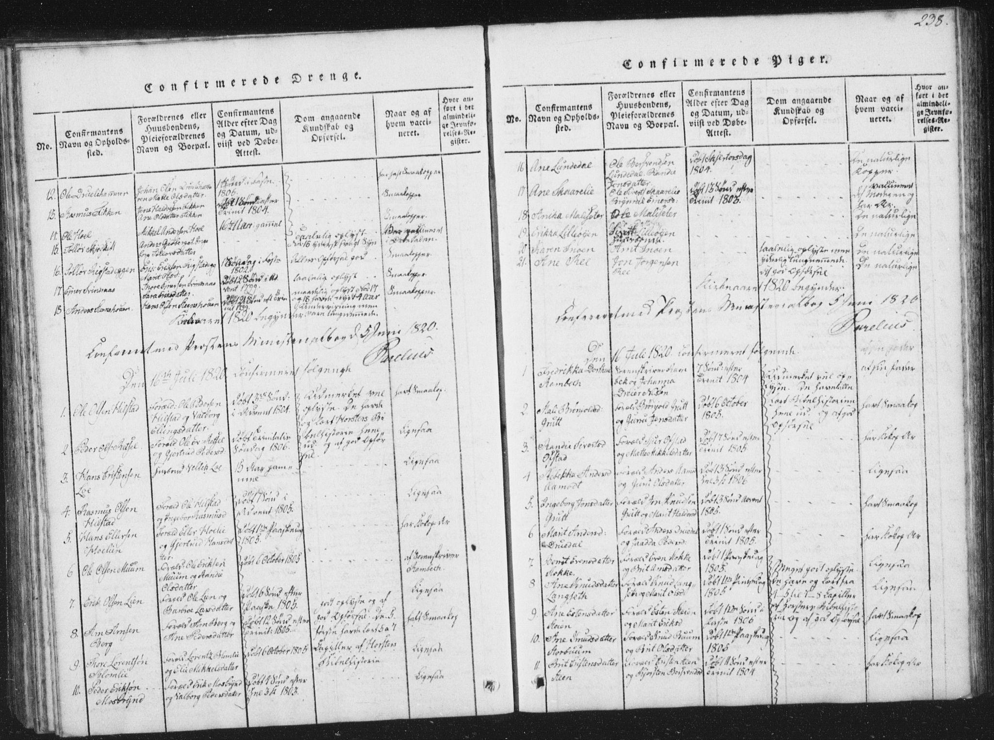 SAT, Ministerialprotokoller, klokkerbøker og fødselsregistre - Sør-Trøndelag, 672/L0862: Klokkerbok nr. 672C01, 1816-1831, s. 238