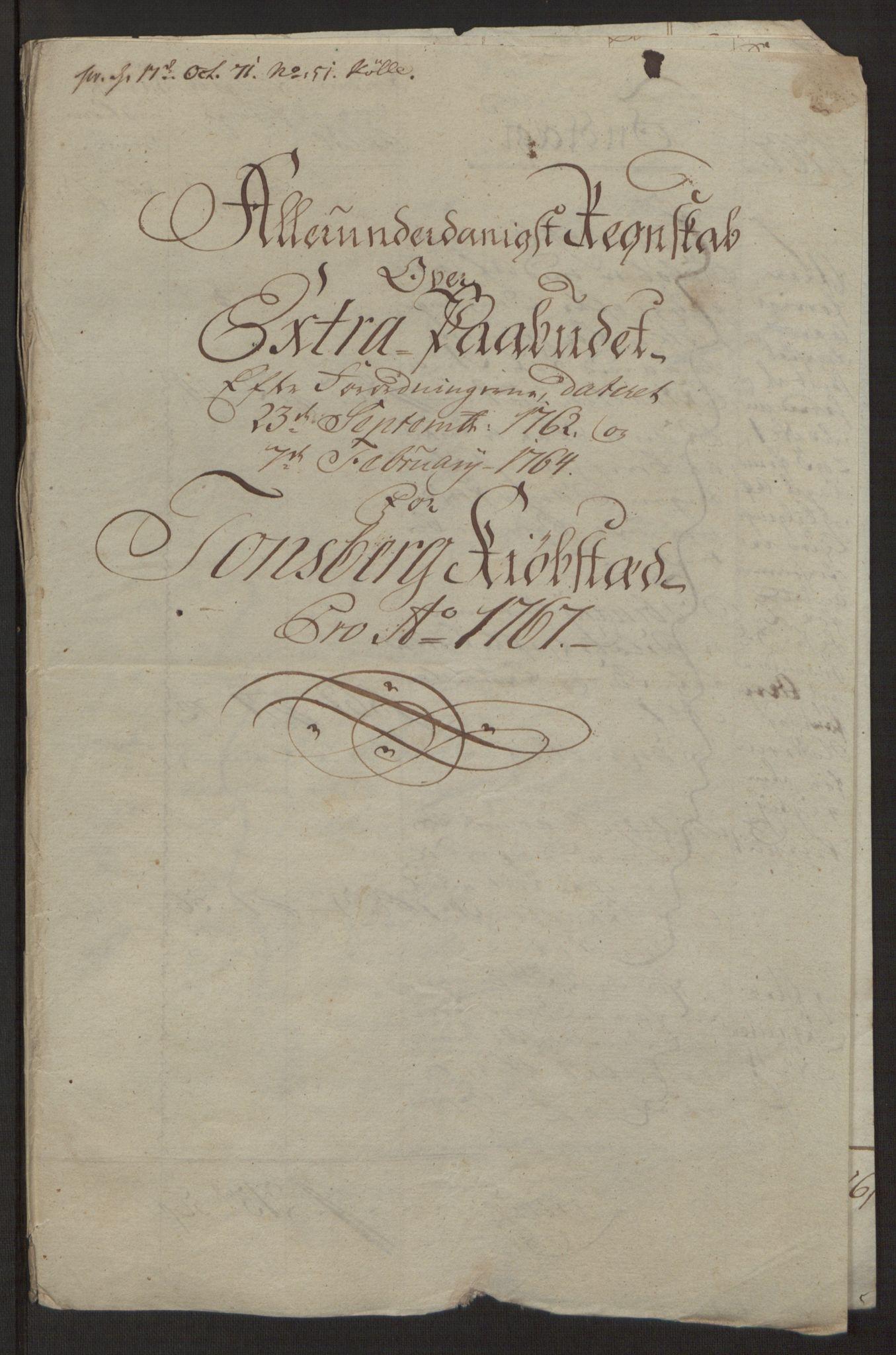 RA, Rentekammeret inntil 1814, Reviderte regnskaper, Byregnskaper, R/Rh/L0162: [H4] Kontribusjonsregnskap, 1762-1772, s. 287