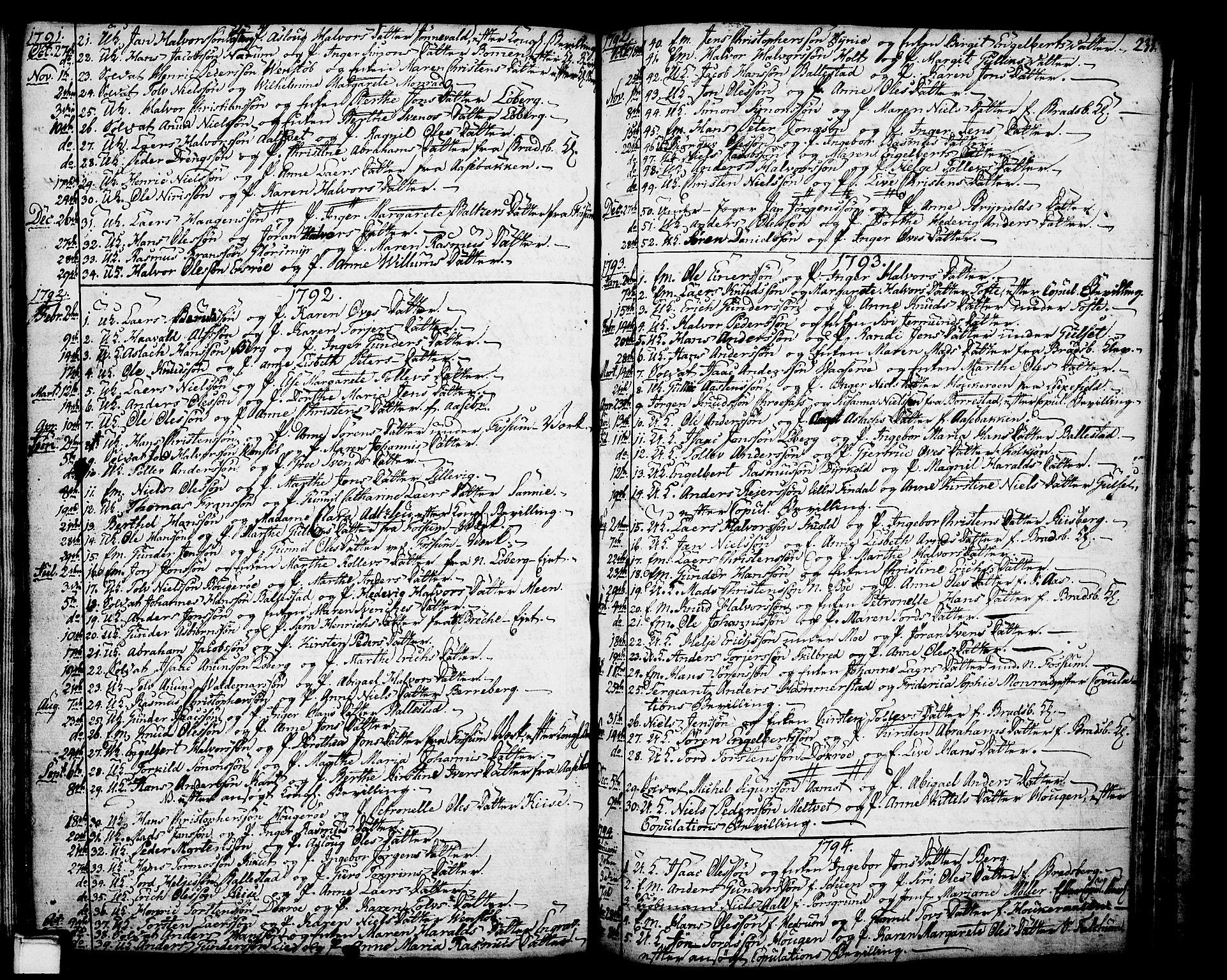 SAKO, Gjerpen kirkebøker, F/Fa/L0002: Ministerialbok nr. 2, 1747-1795, s. 233