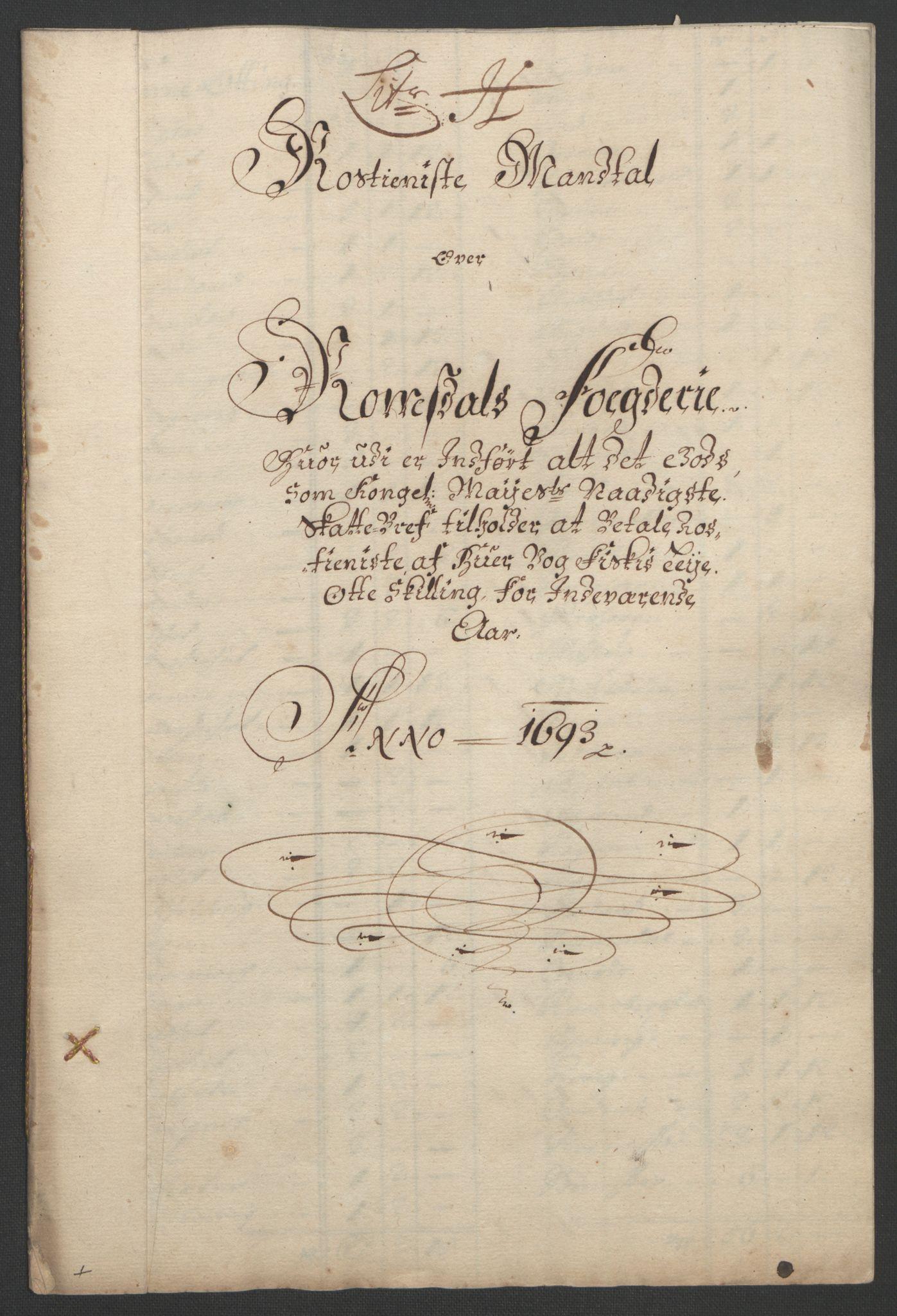 RA, Rentekammeret inntil 1814, Reviderte regnskaper, Fogderegnskap, R55/L3651: Fogderegnskap Romsdal, 1693-1694, s. 93