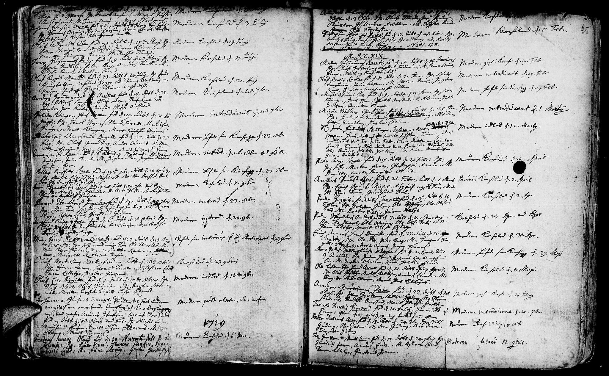 SAT, Ministerialprotokoller, klokkerbøker og fødselsregistre - Nord-Trøndelag, 746/L0439: Ministerialbok nr. 746A01, 1688-1759, s. 35