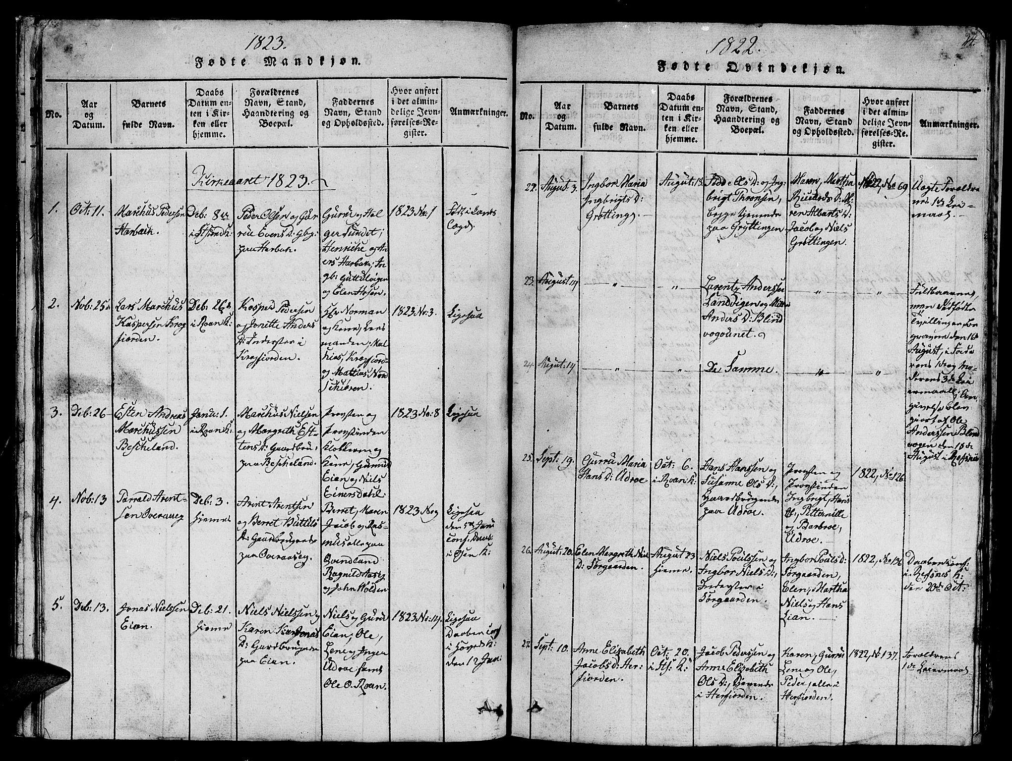 SAT, Ministerialprotokoller, klokkerbøker og fødselsregistre - Sør-Trøndelag, 657/L0714: Klokkerbok nr. 657C01, 1818-1868, s. 24