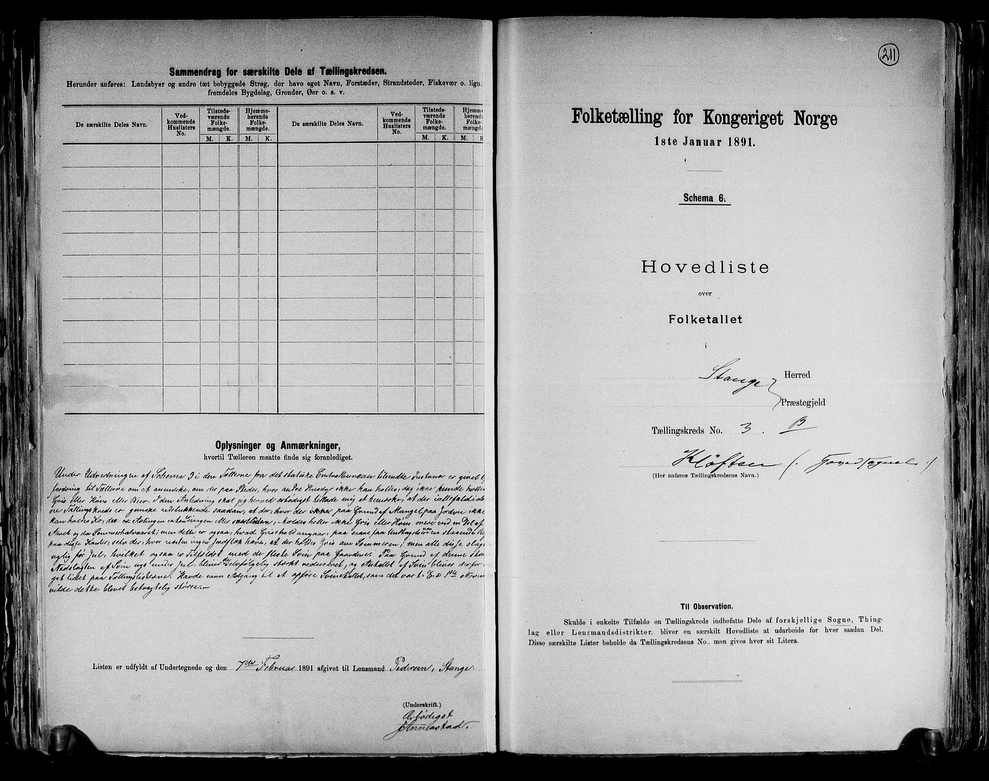 RA, Folketelling 1891 for 0417 Stange herred, 1891, s. 12