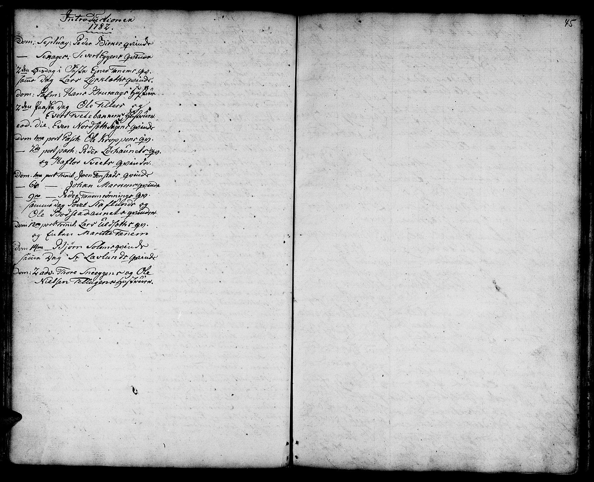 SAT, Ministerialprotokoller, klokkerbøker og fødselsregistre - Sør-Trøndelag, 618/L0437: Ministerialbok nr. 618A02, 1749-1782, s. 45