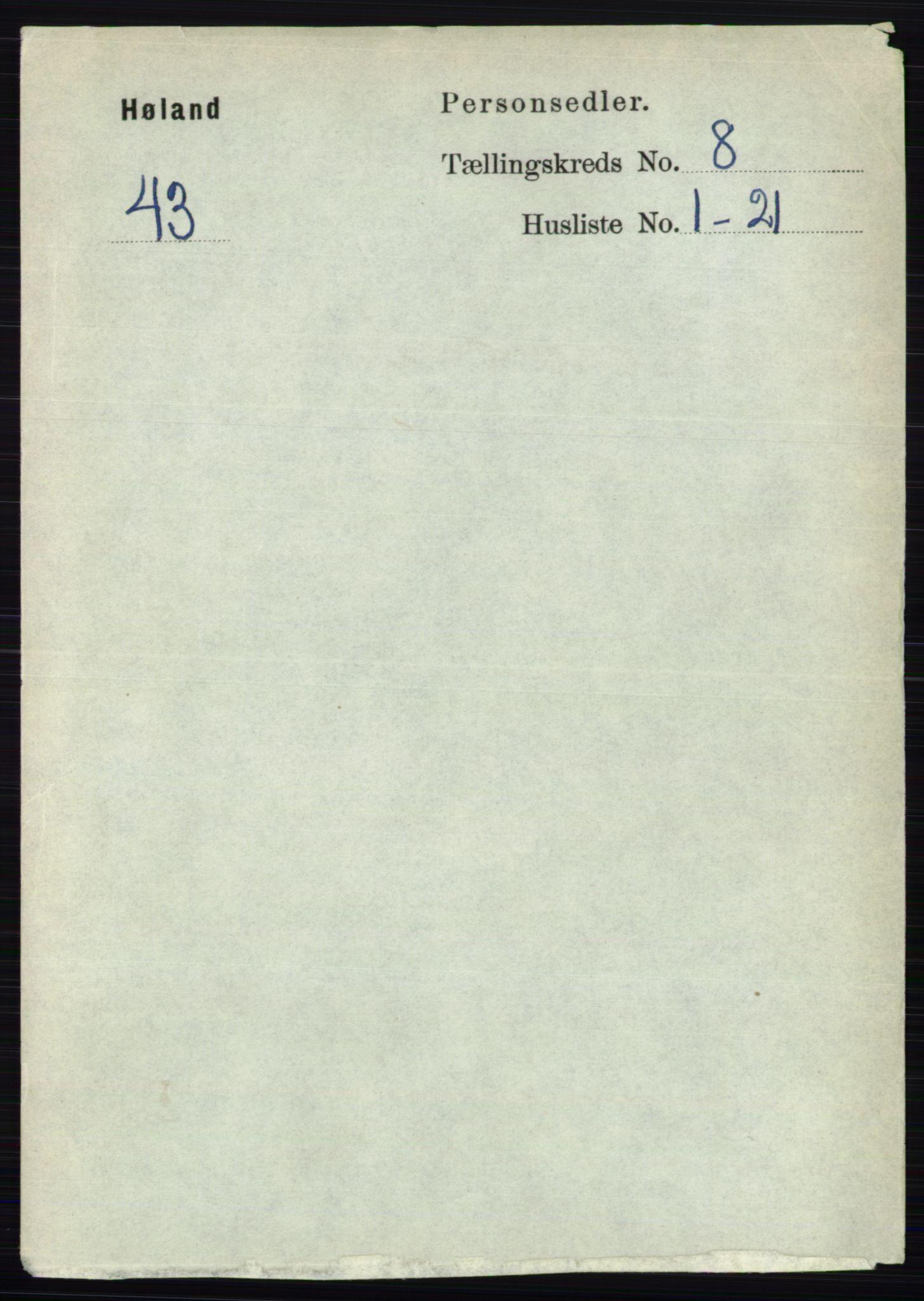 RA, Folketelling 1891 for 0221 Høland herred, 1891, s. 5540