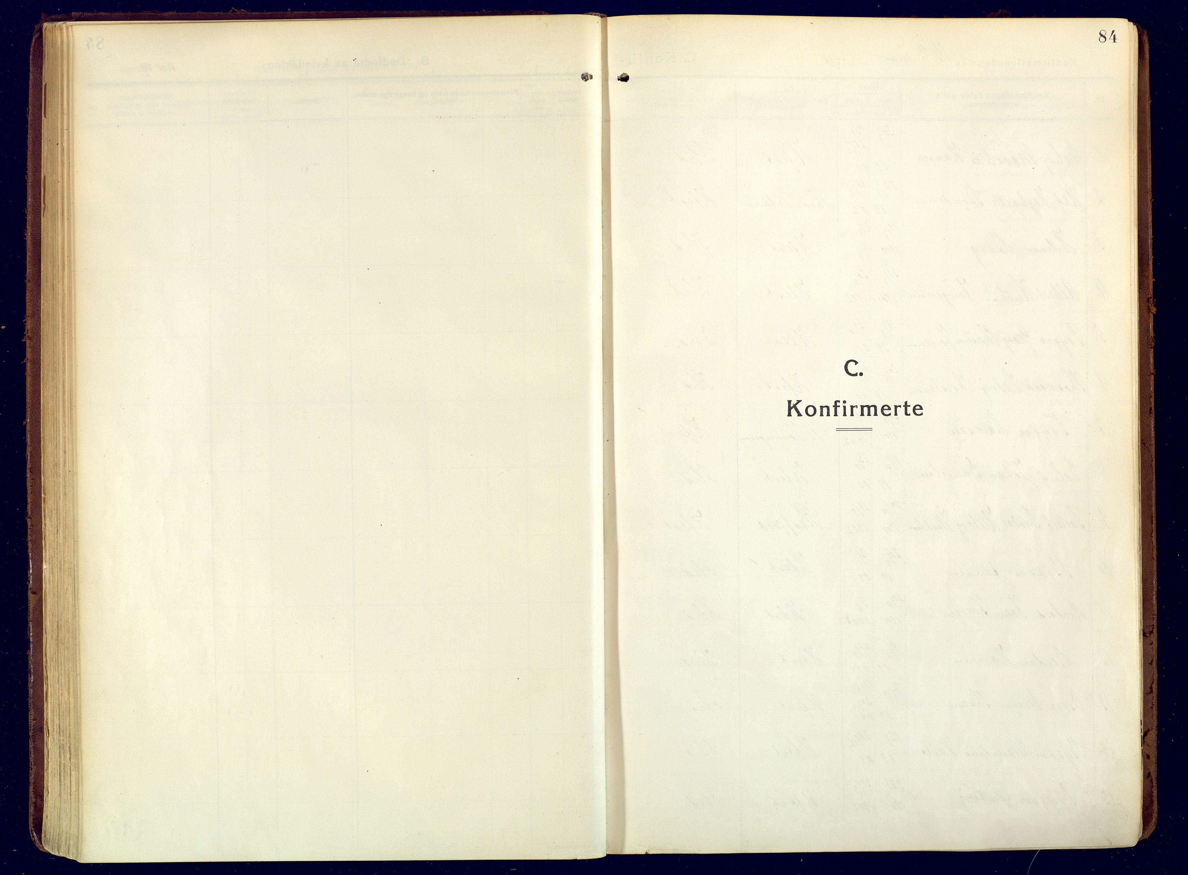 SATØ, Hammerfest sokneprestembete, Ministerialbok nr. 15, 1916-1923, s. 84