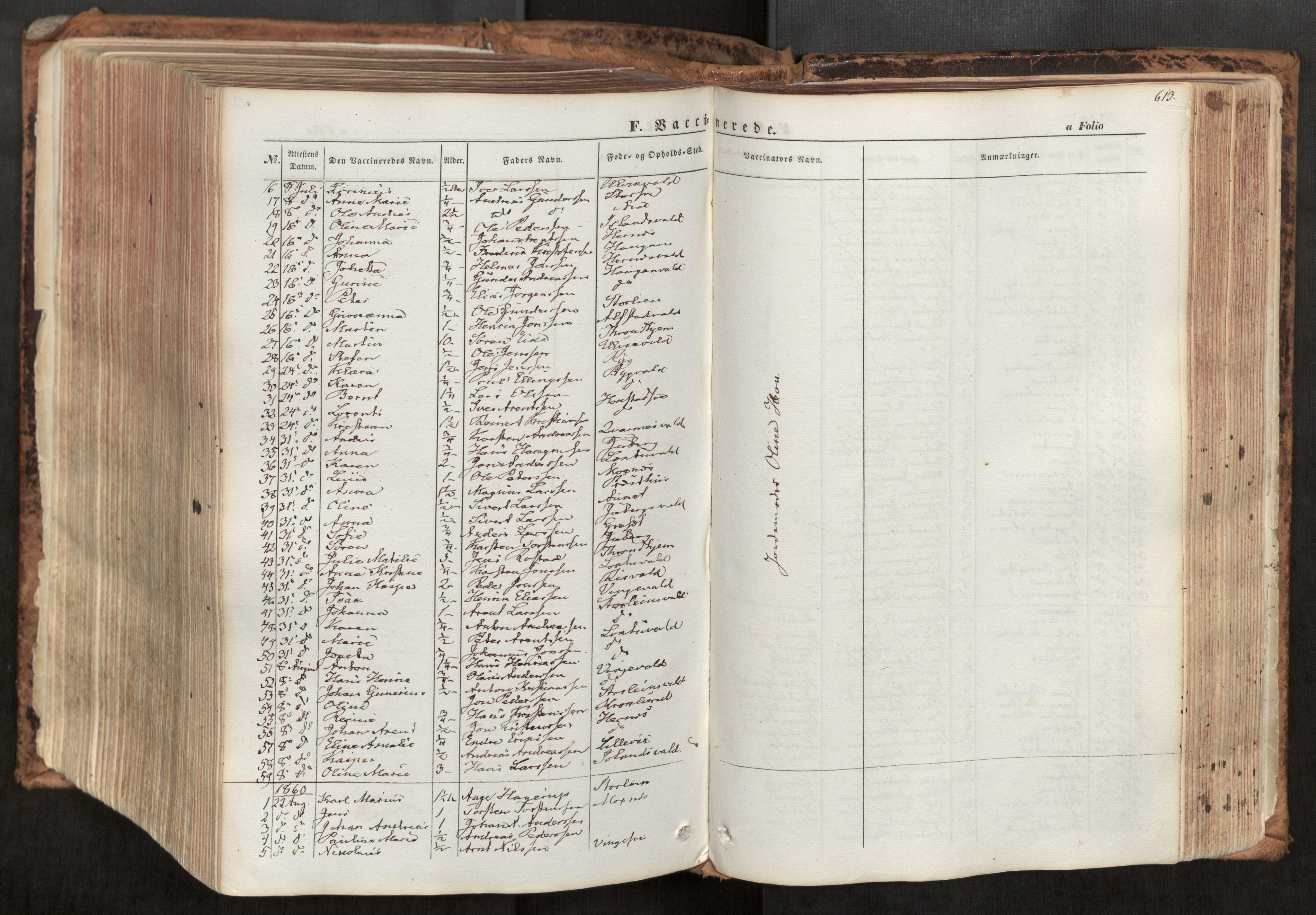 SAT, Ministerialprotokoller, klokkerbøker og fødselsregistre - Nord-Trøndelag, 713/L0116: Ministerialbok nr. 713A07, 1850-1877, s. 613