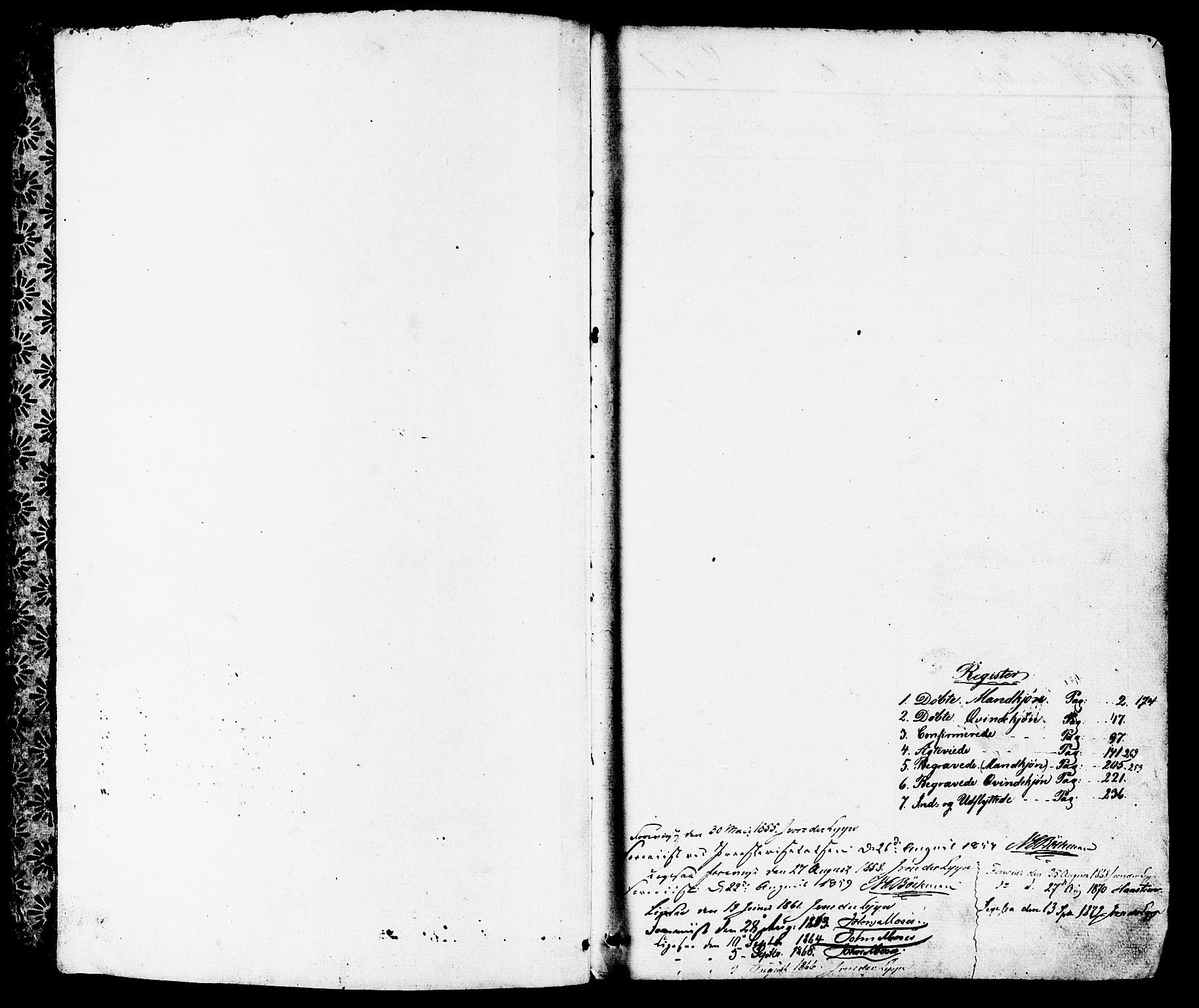 SAST, Høyland sokneprestkontor, 30BB/L0001: Klokkerbok nr. B 1, 1854-1873, s. 1